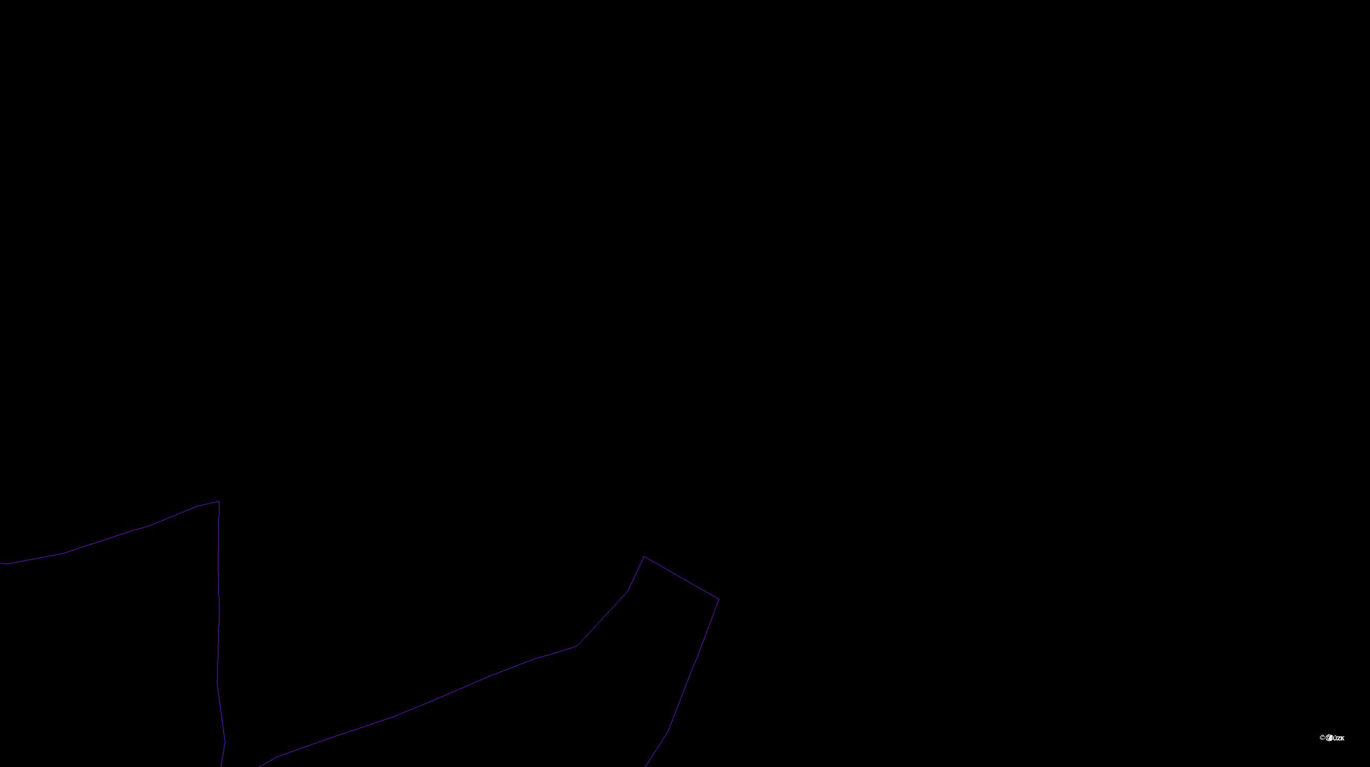 Katastrální mapa pozemků a čísla parcel Bojanovice