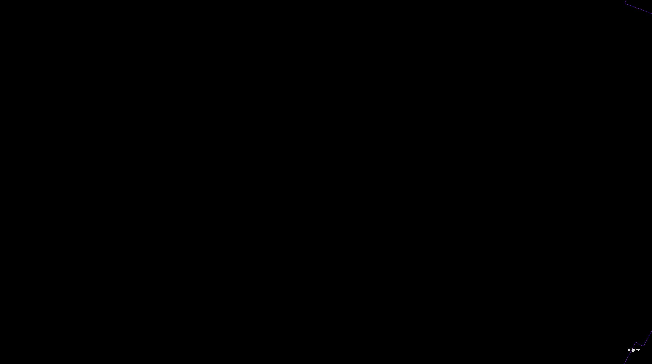 Katastrální mapa pozemků a čísla parcel Holetice