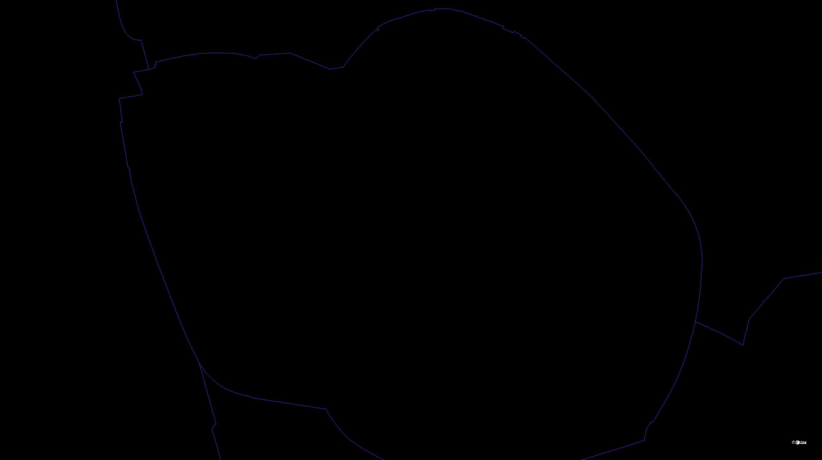 Katastrální mapa pozemků a čísla parcel České Budějovice 1