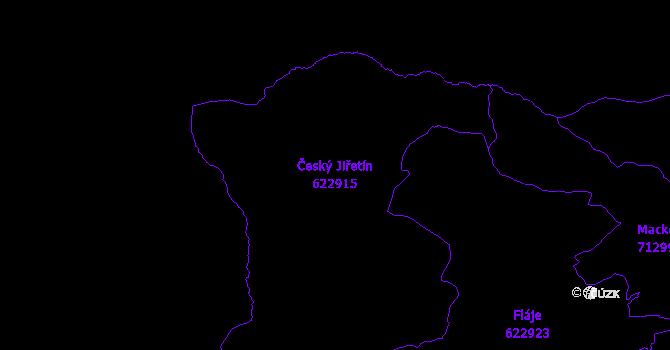 Katastrální mapa Český Jiřetín - přehledová mapa katastrálního území
