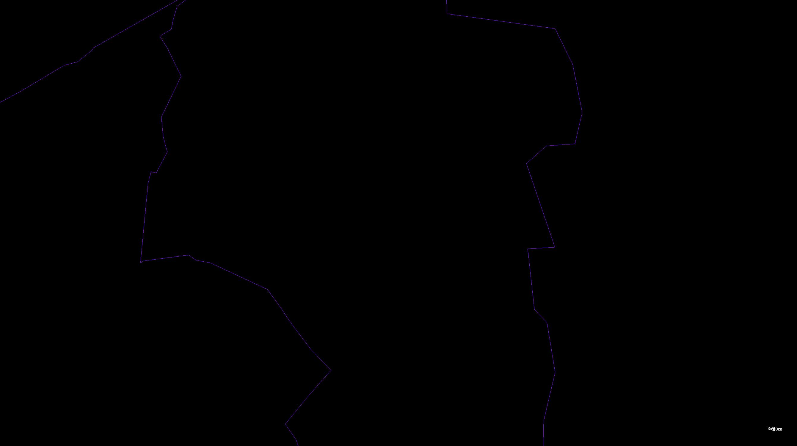 Katastrální mapa pozemků a čísla parcel Střížovice u Ústí nad Labem