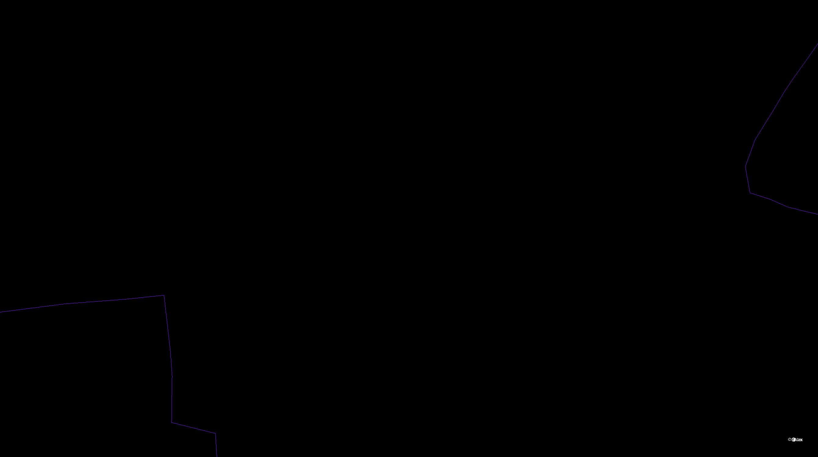 Katastrální mapa pozemků a čísla parcel Lukohořany