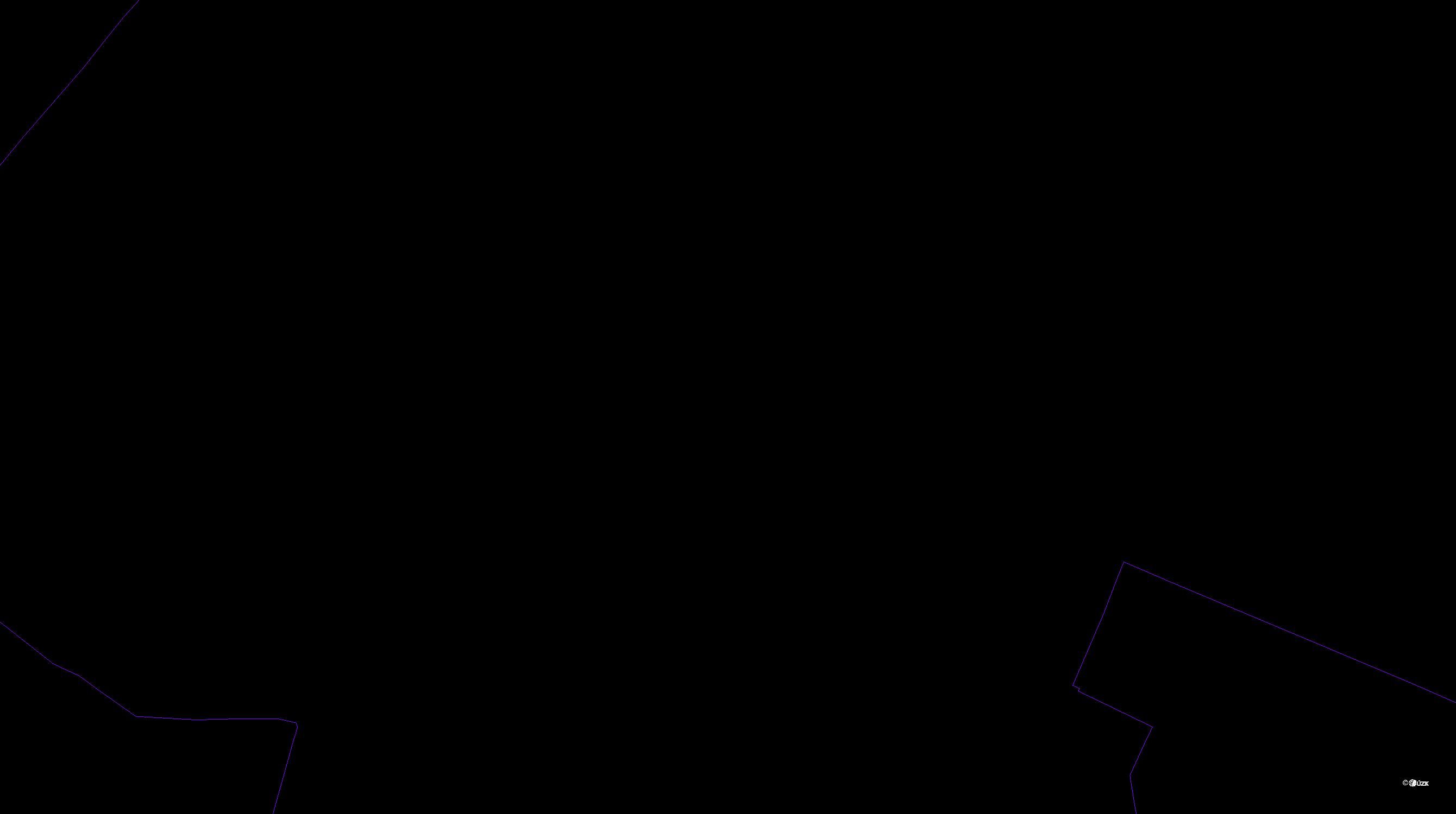 Katastrální mapa pozemků a čísla parcel Doksany