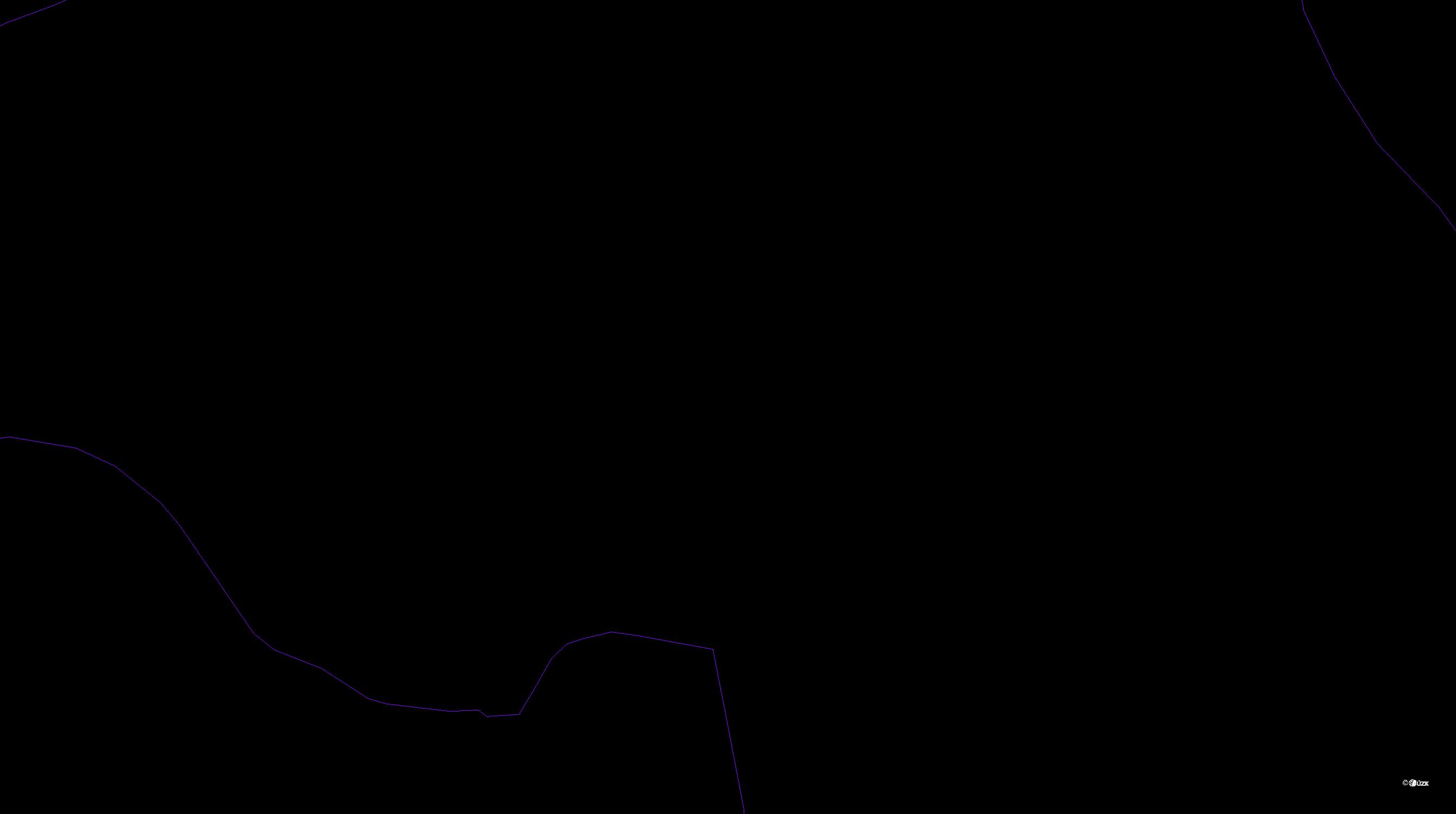 Katastrální mapa pozemků a čísla parcel Cihelny
