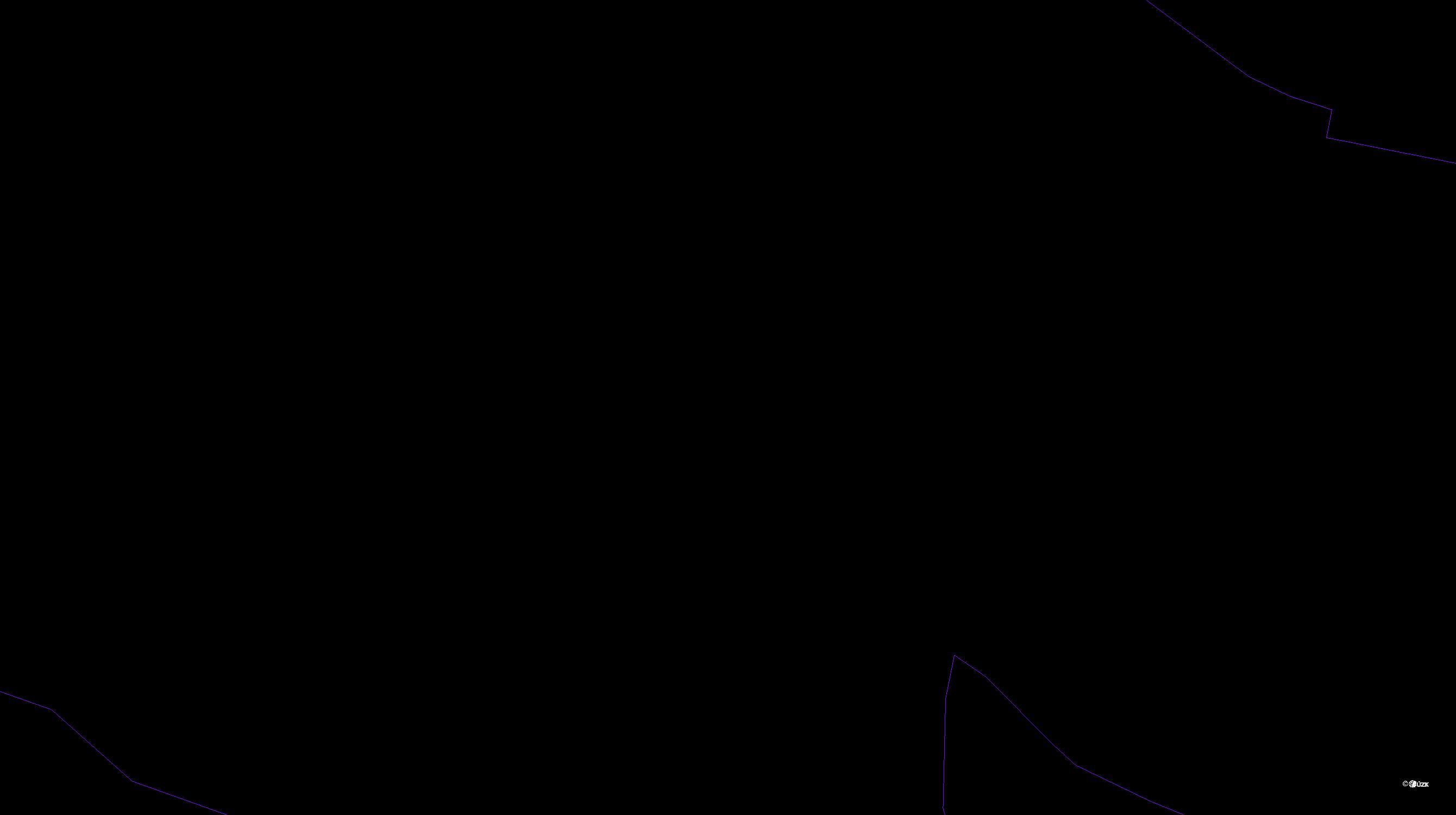 Katastrální mapa pozemků a čísla parcel Chramiště
