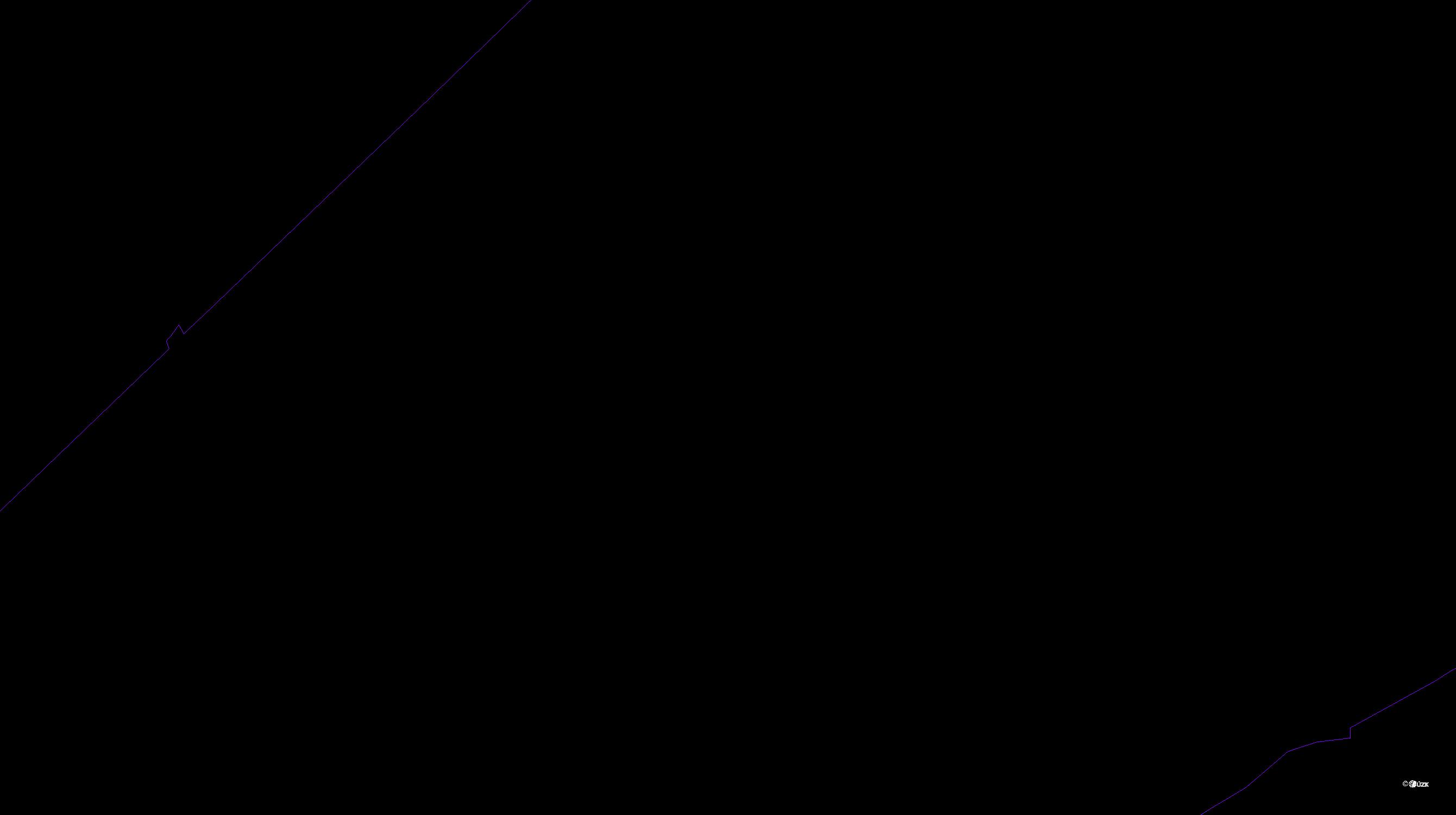Katastrální mapa pozemků a čísla parcel Jaronice