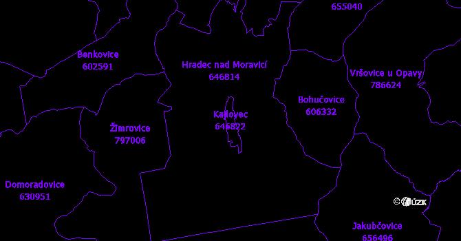 Katastrální mapa Kajlovec