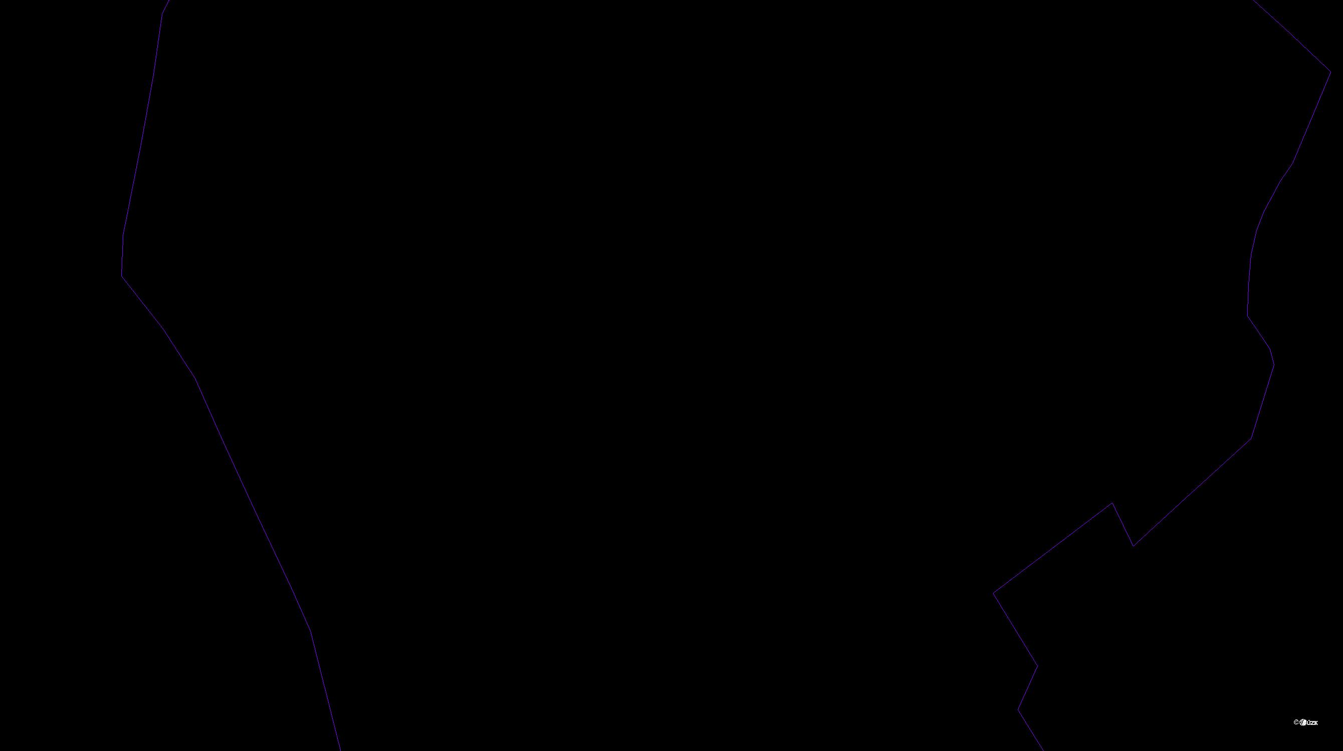 Katastrální mapa pozemků a čísla parcel Malá Čermná