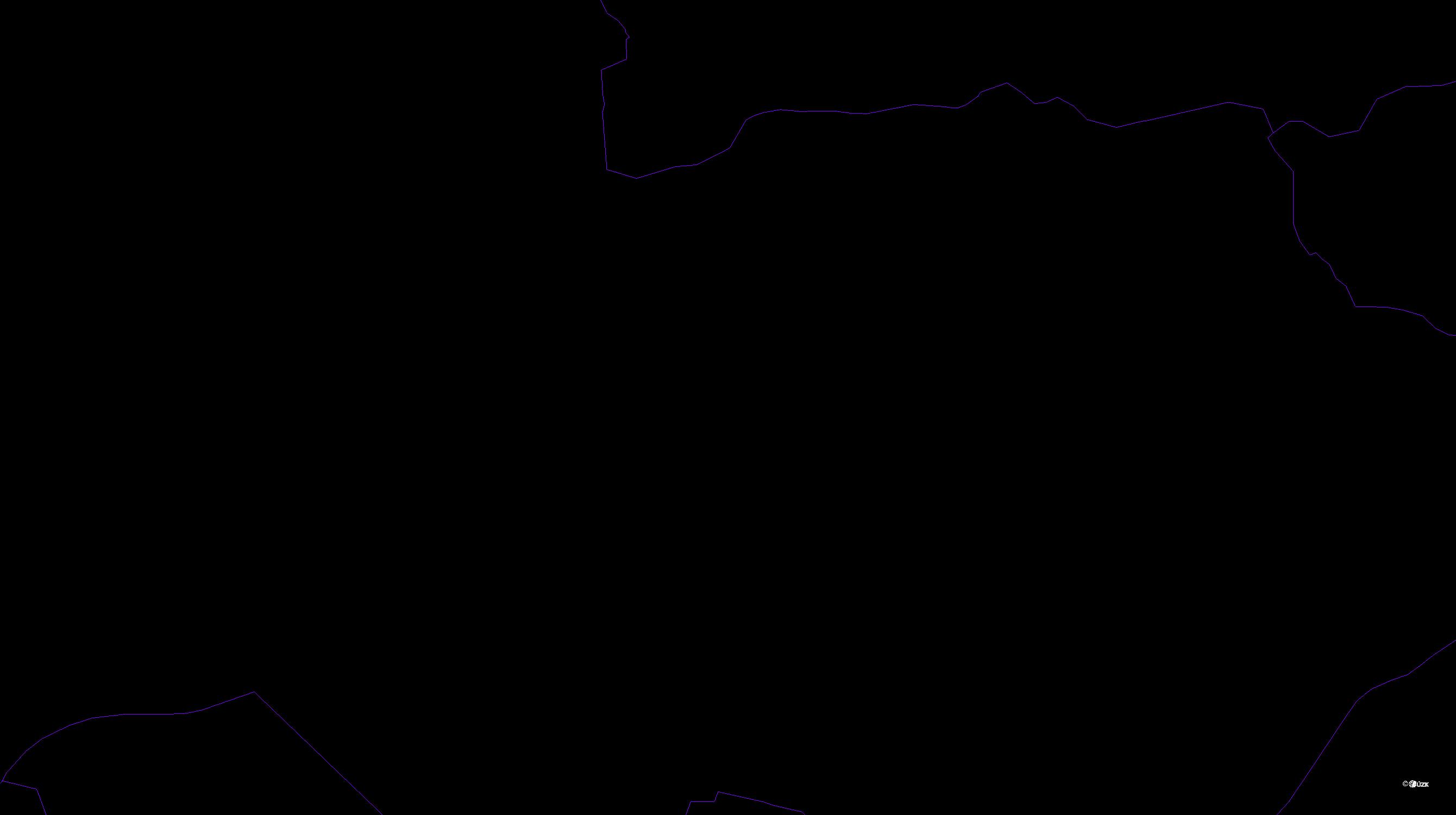 Katastrální mapa pozemků a čísla parcel Jablonecké Paseky