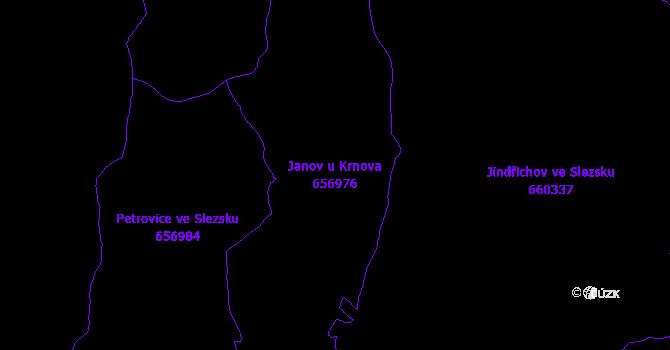 Katastrální mapa Janov u Krnova - přehledová mapa katastrálního území