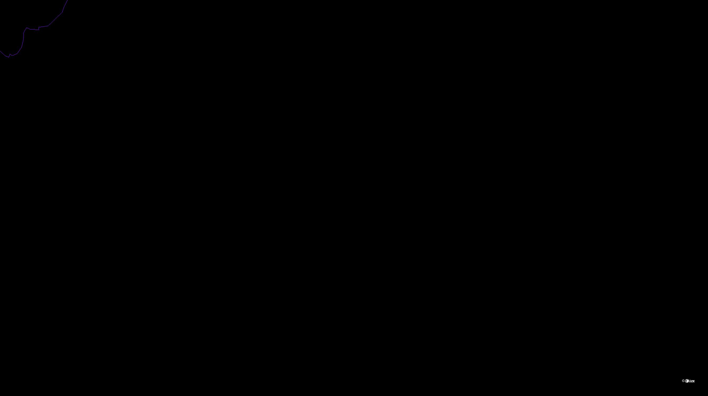 Katastrální mapa pozemků a čísla parcel Kladno u Hlinska