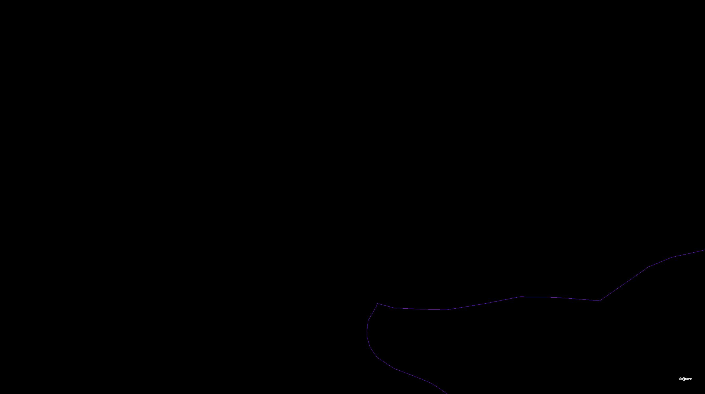 Katastrální mapa pozemků a čísla parcel Kovansko