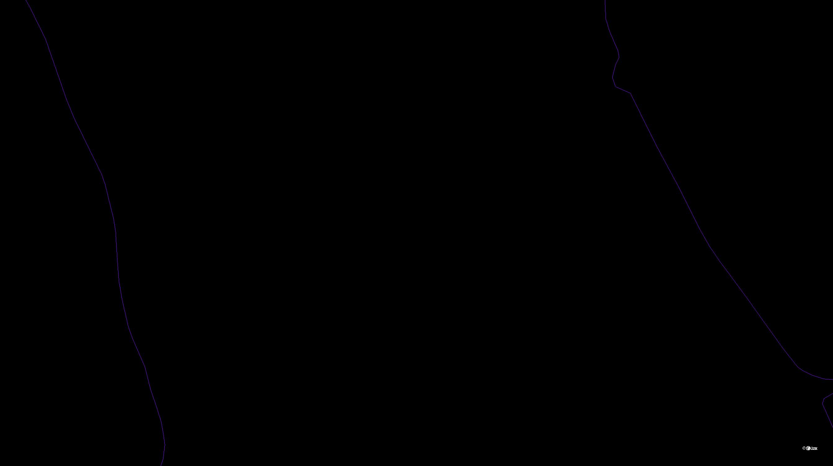 Katastrální mapa pozemků a čísla parcel Liboc u Kynšperka nad Ohří