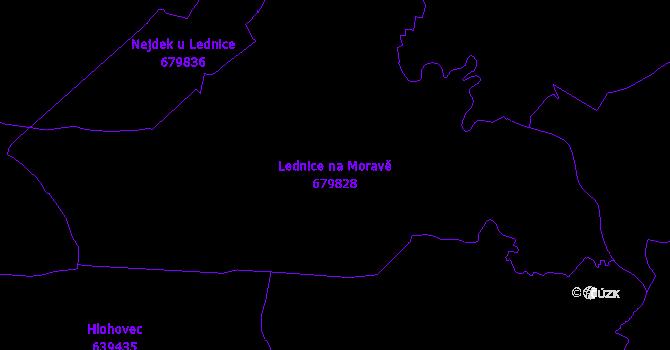 Katastrální mapa Lednice na Moravě - přehledová mapa katastrálního území