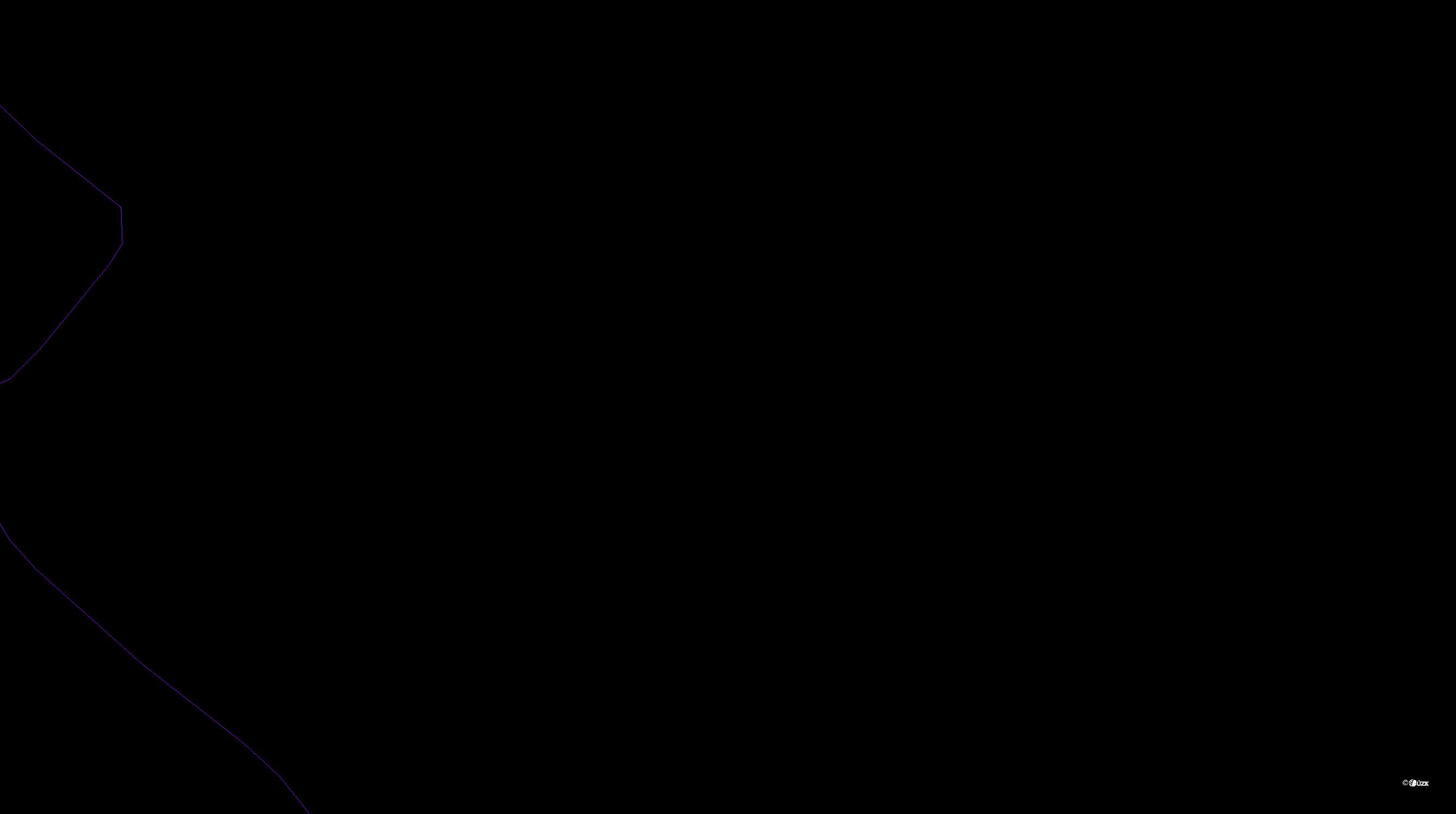 Katastrální mapa pozemků a čísla parcel Předboř nad Jihlavou