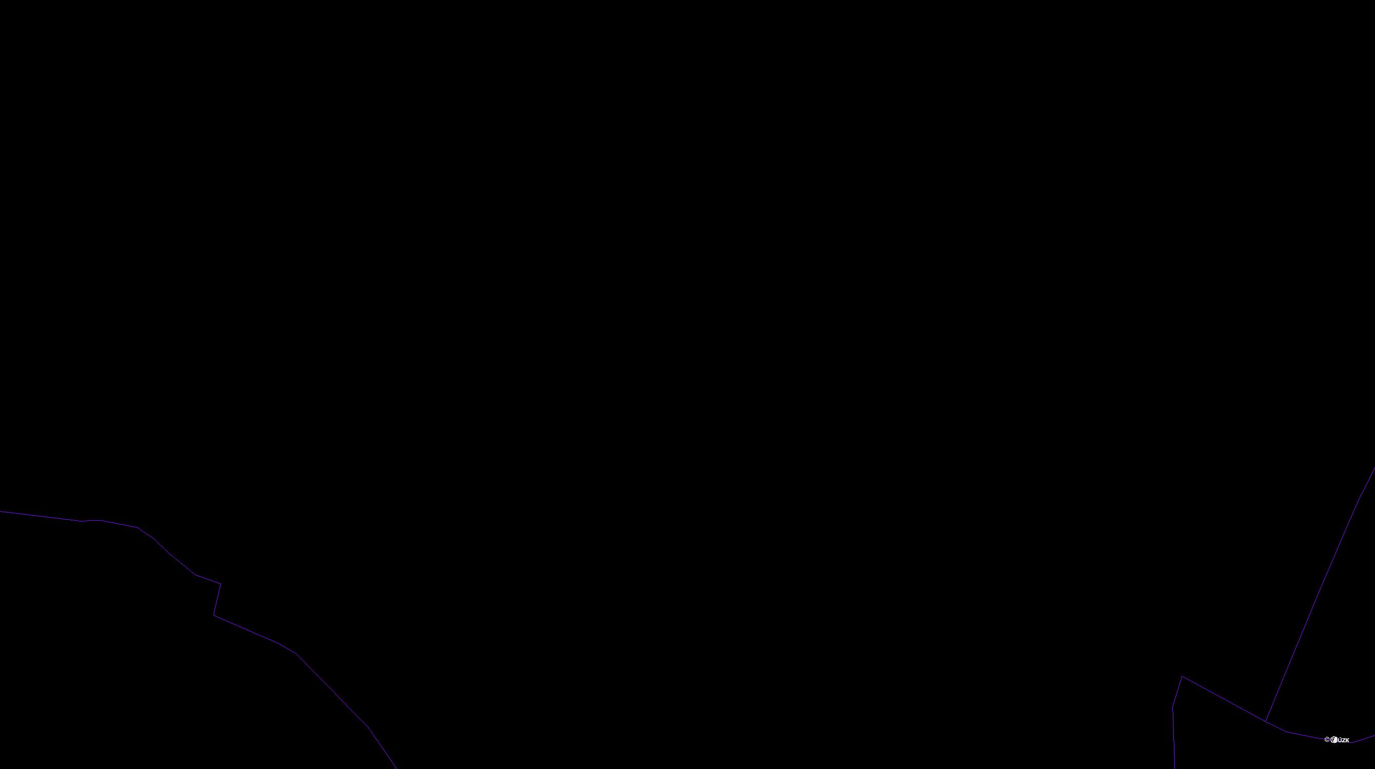 Katastrální mapa pozemků a čísla parcel Svatoslav nad Jihlavou