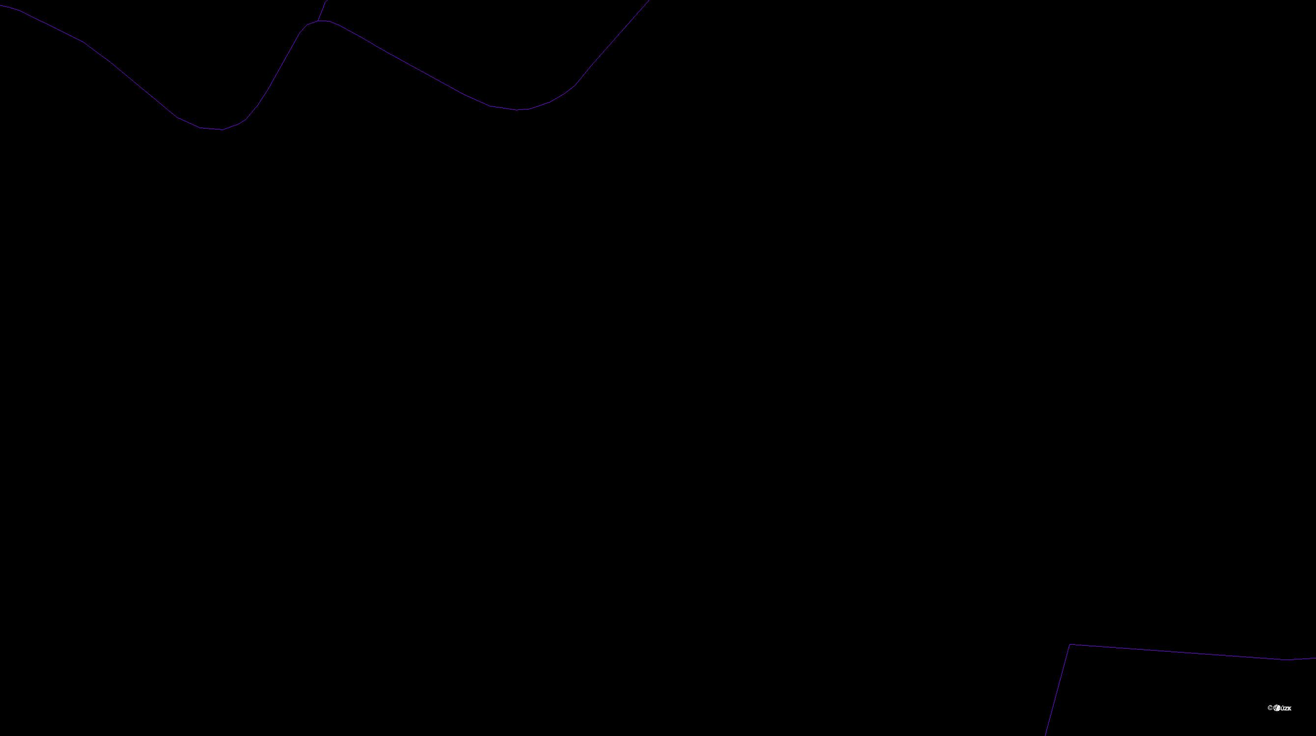 Katastrální mapa pozemků a čísla parcel Lukovna