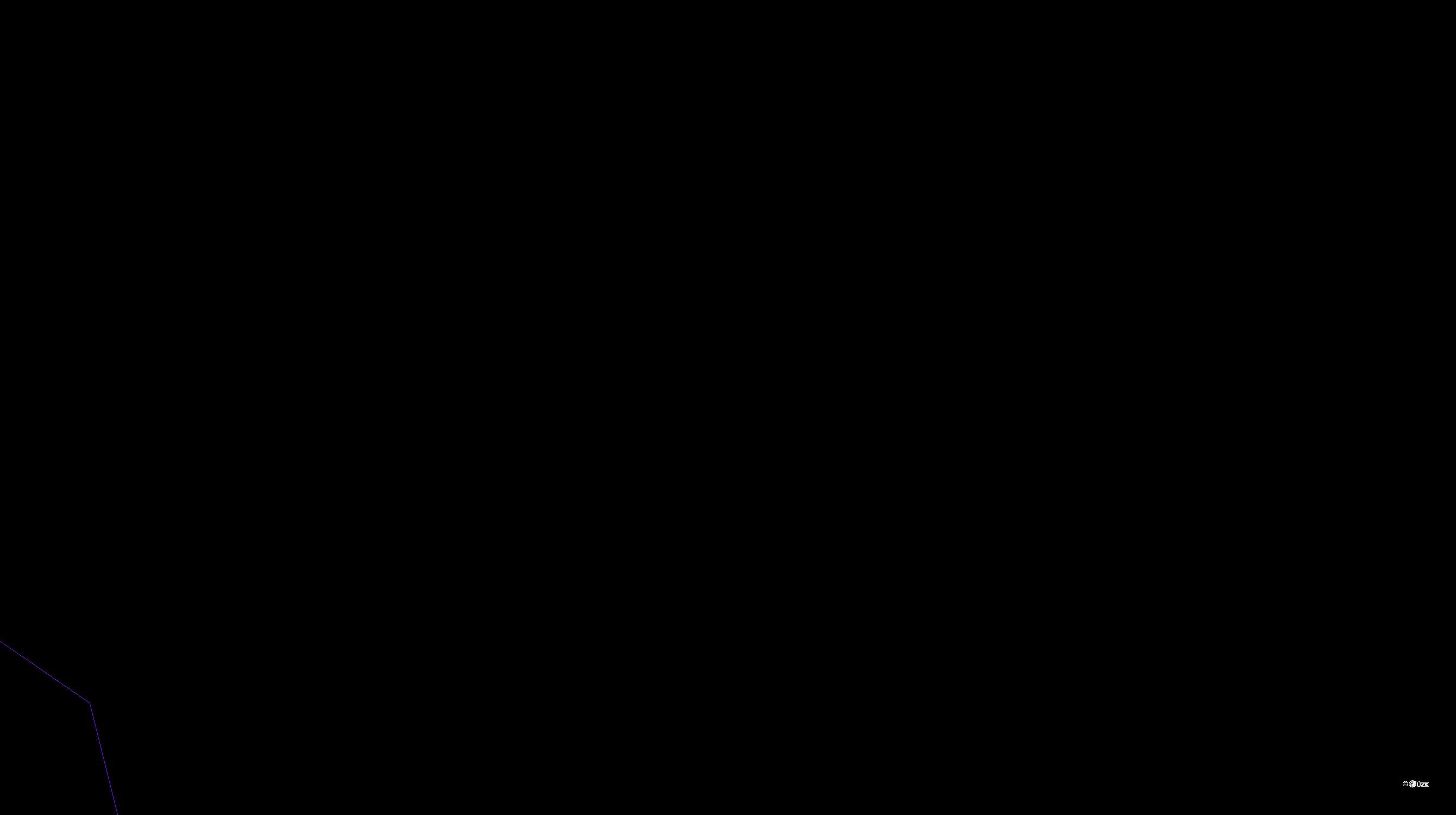 Katastrální mapa pozemků a čísla parcel Lužany nad Trotinou