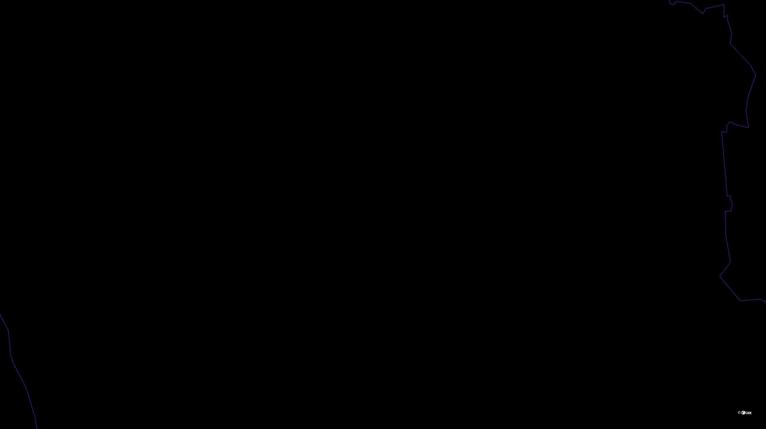 Katastrální mapa pozemků a čísla parcel Lysůvky