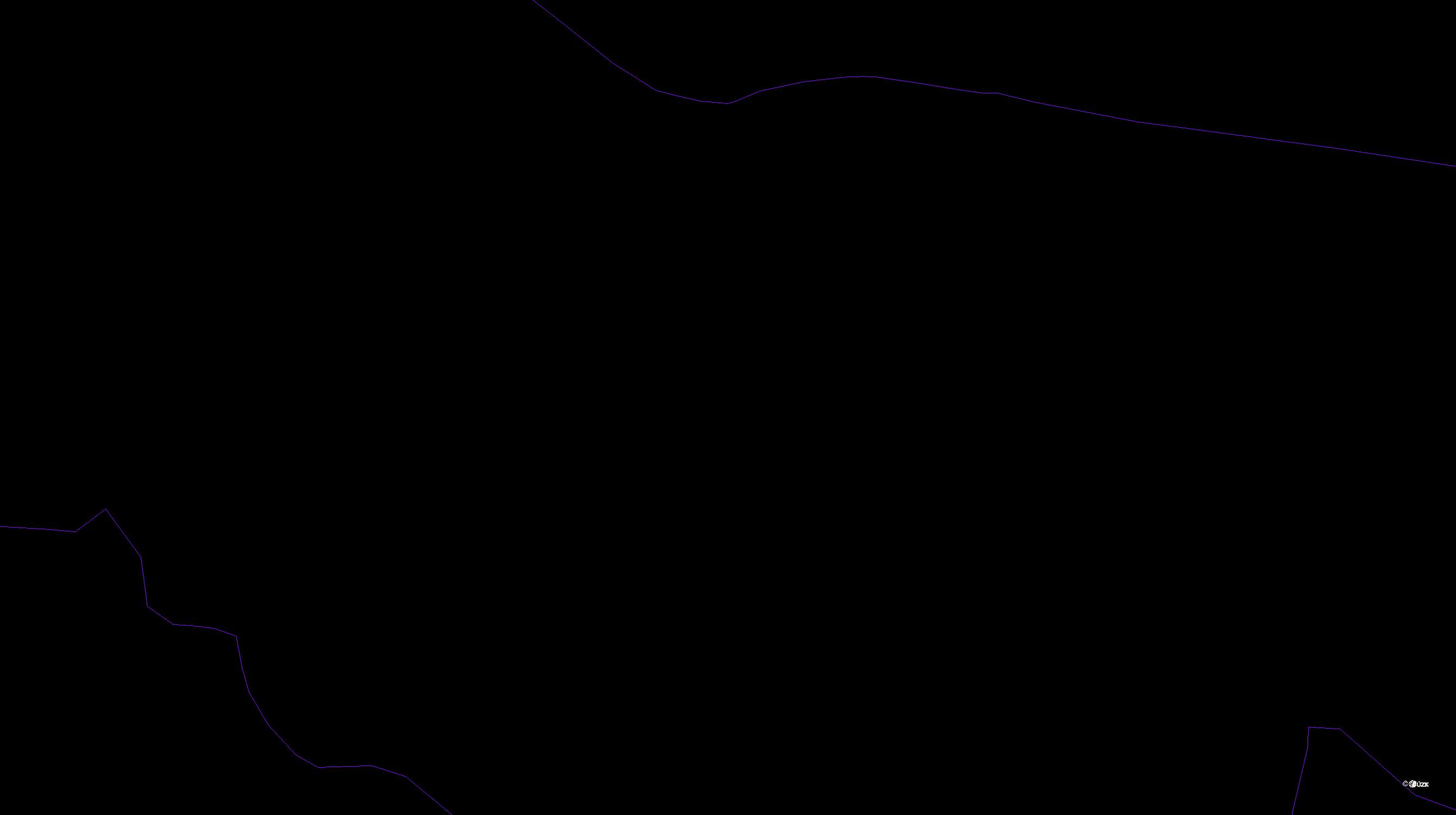 Katastrální mapa pozemků a čísla parcel Vinice u Městce Králové
