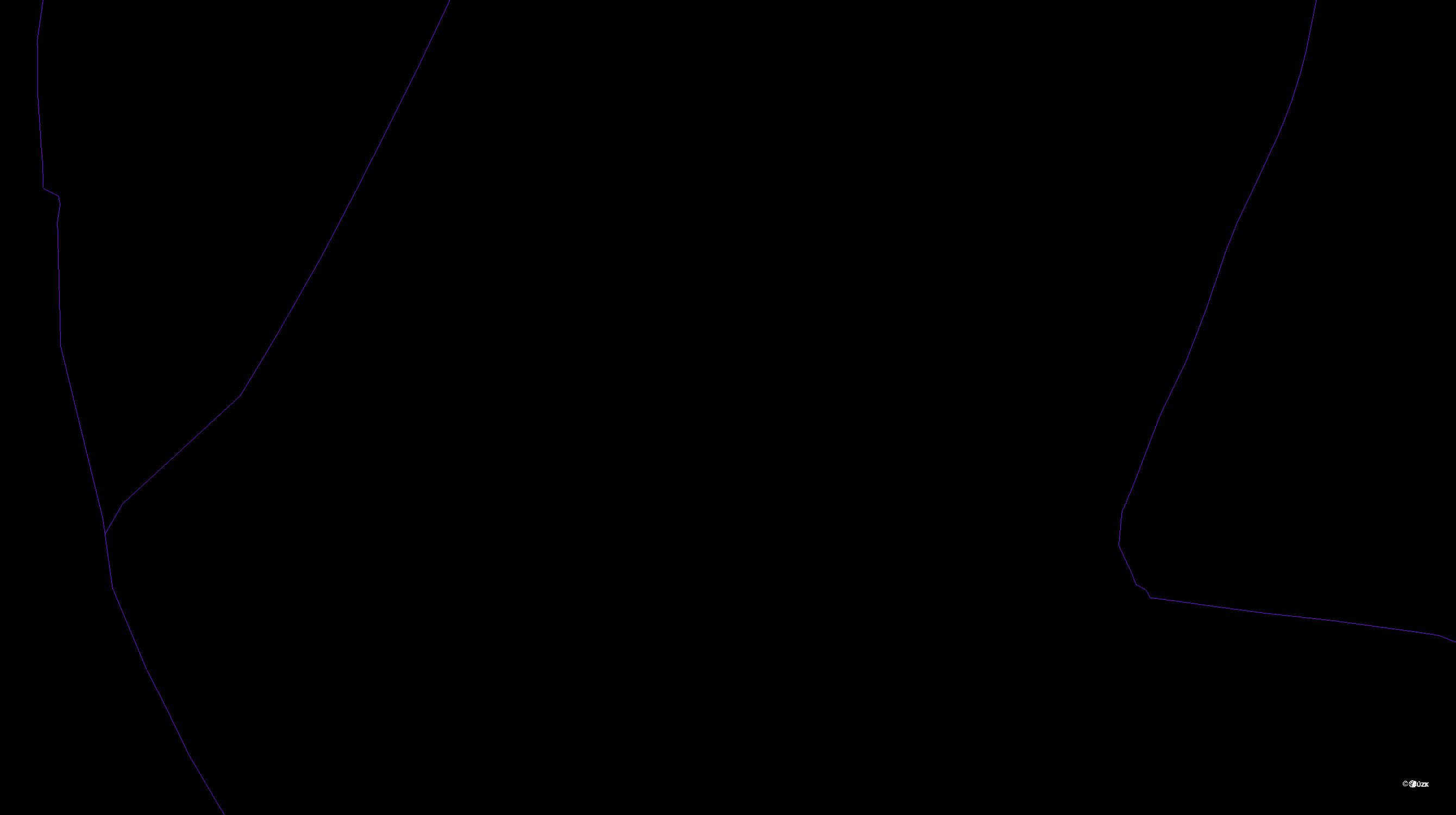 Katastrální mapa pozemků a čísla parcel Debř