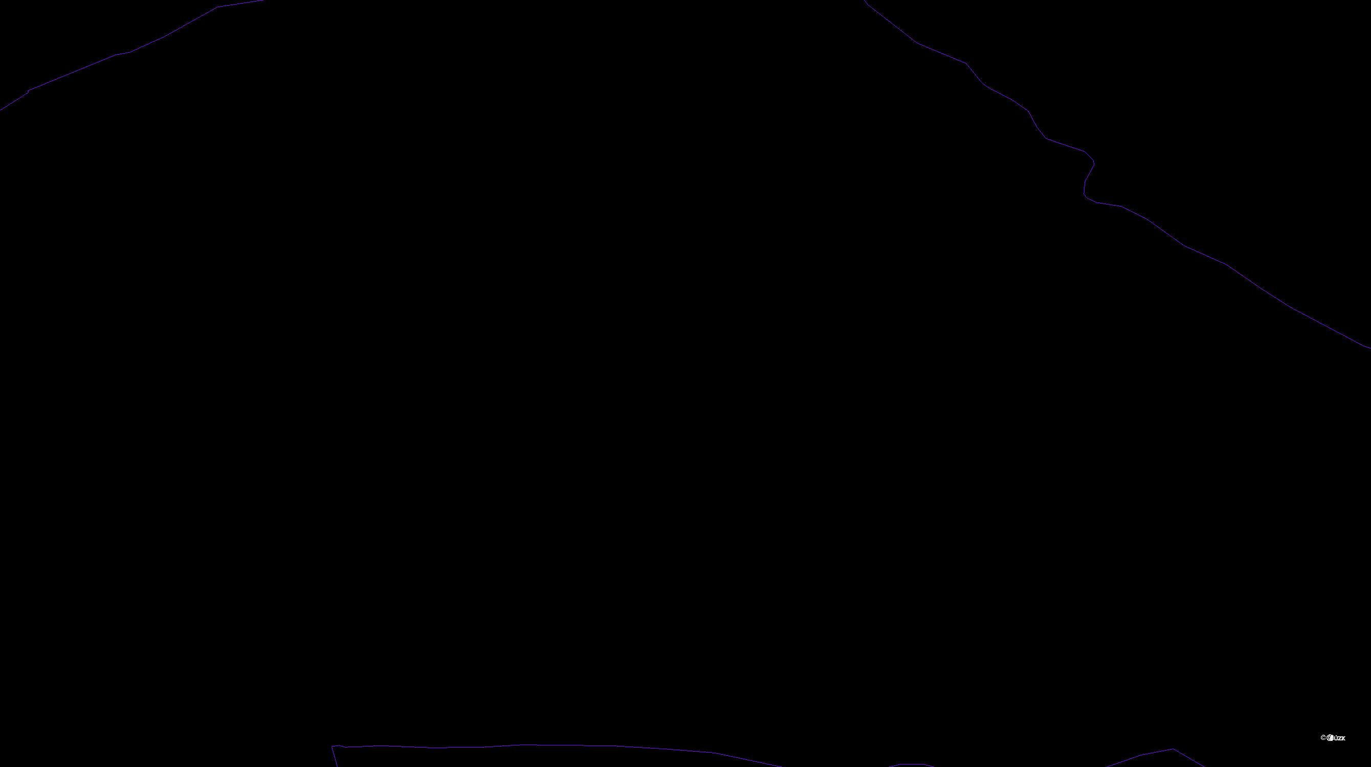 Katastrální mapa pozemků a čísla parcel Sobáčov
