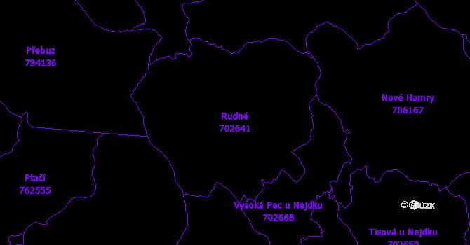 Katastrální mapa Rudné