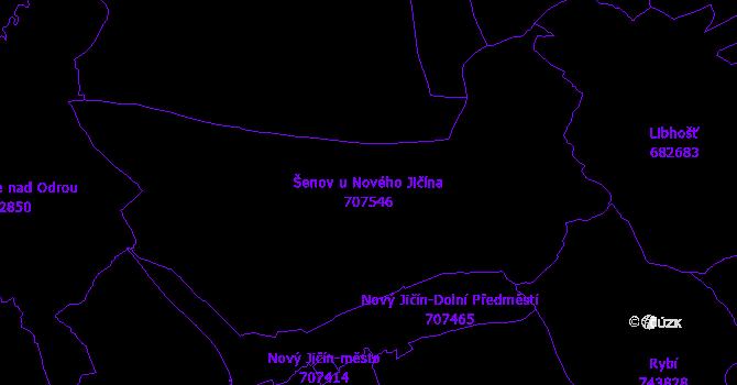 Katastrální mapa Šenov u Nového Jičína - přehledová mapa katastrálního území