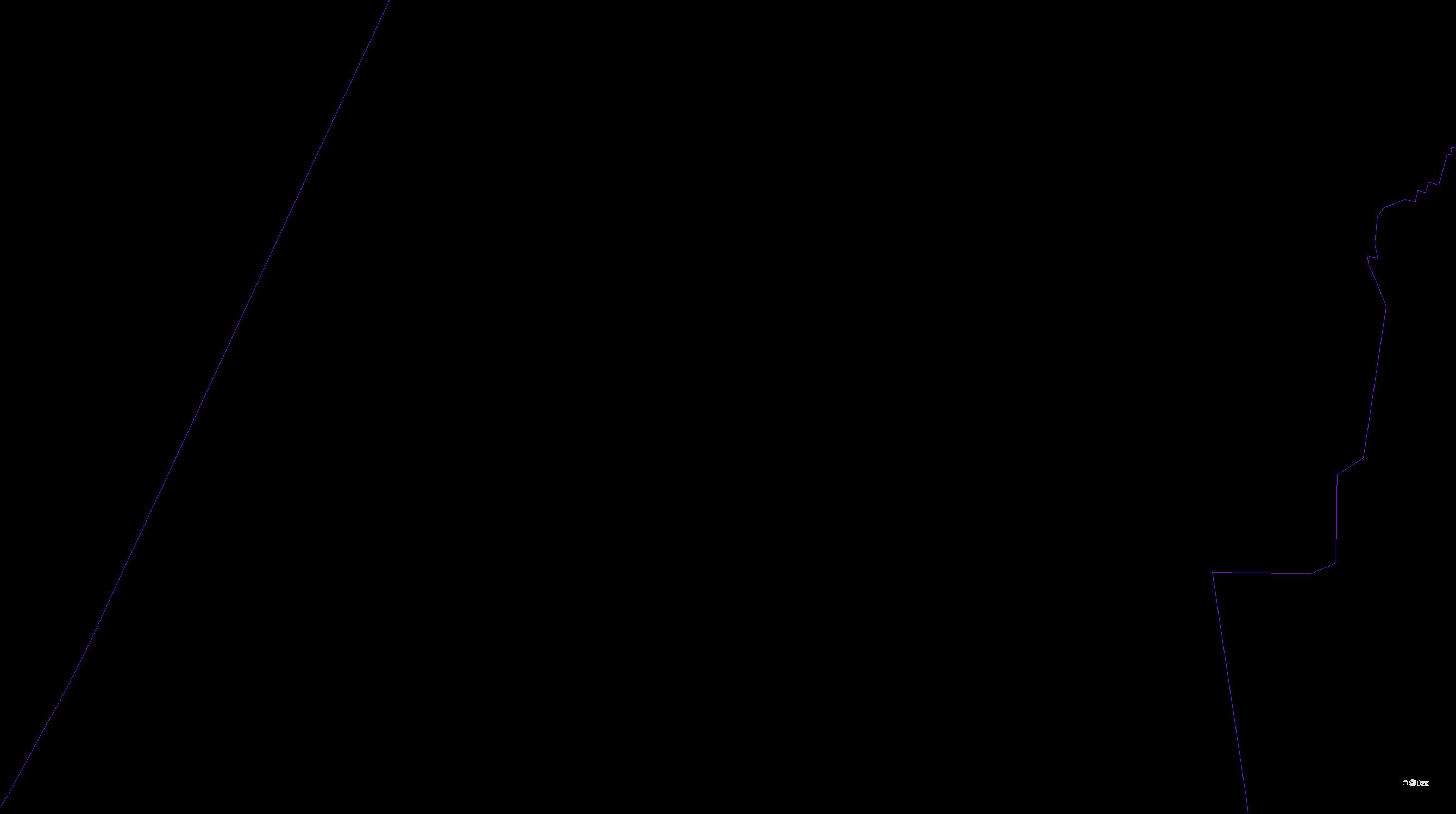 Katastrální mapa pozemků a čísla parcel Povel
