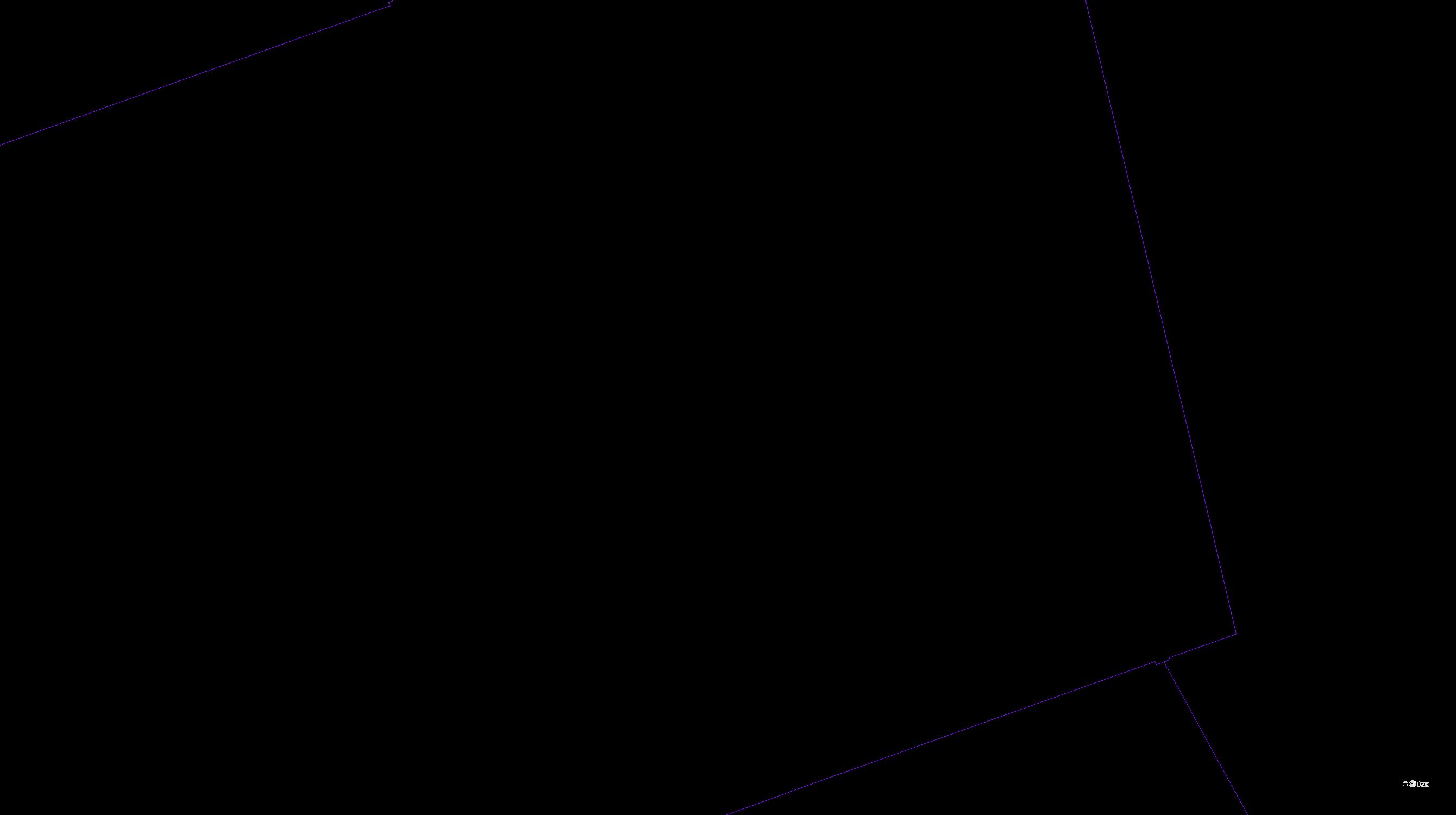 Katastrální mapa pozemků a čísla parcel Hablov