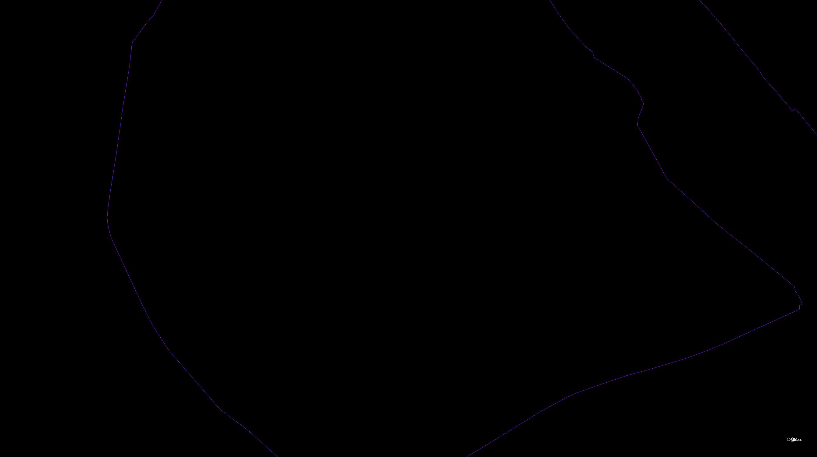 Katastrální mapa pozemků a čísla parcel Opava-Město