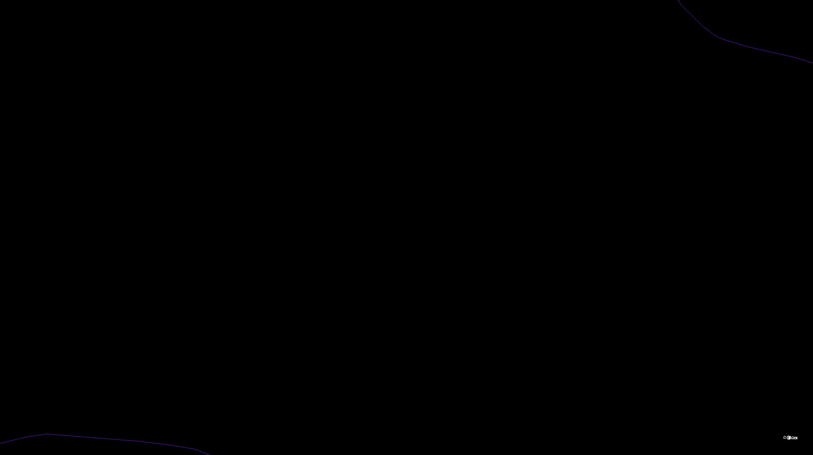 Katastrální mapa pozemků a čísla parcel Horní Ostrovec
