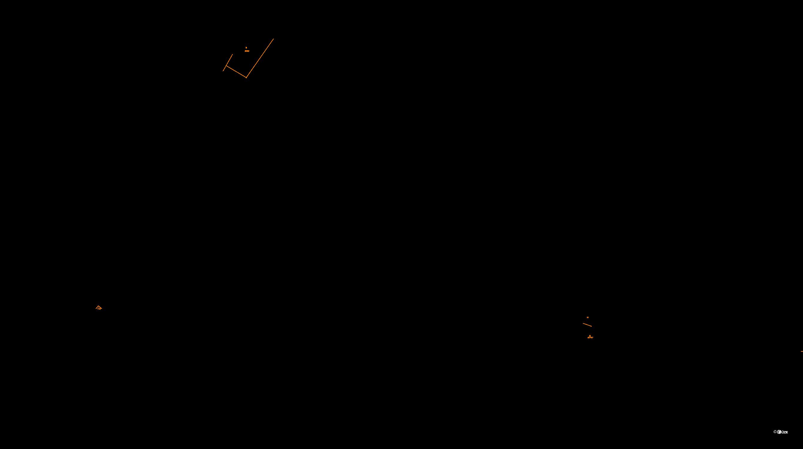 Katastrální mapa pozemků a čísla parcel Písek u Jablunkova