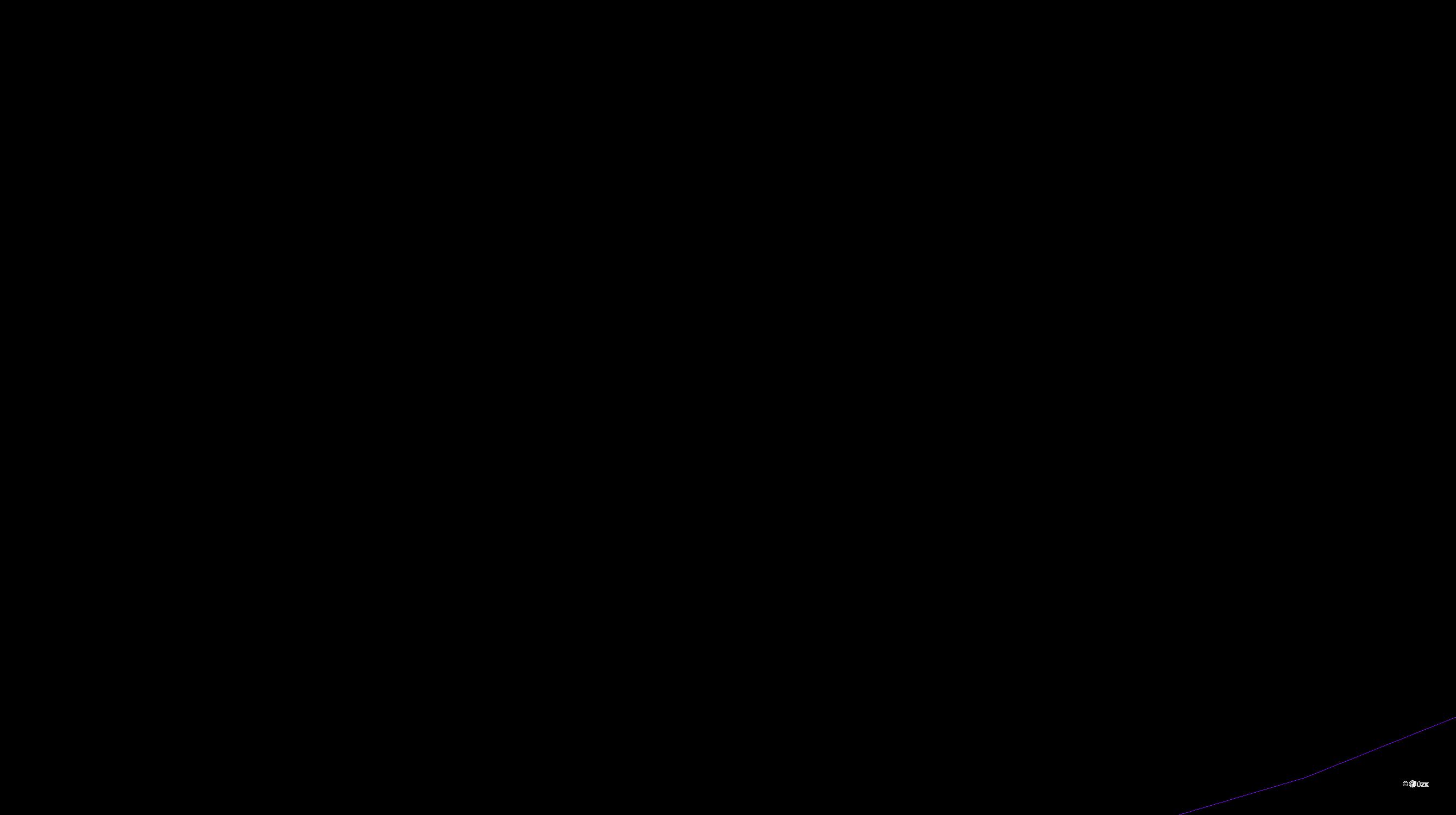 Katastrální mapa pozemků a čísla parcel Holešovice