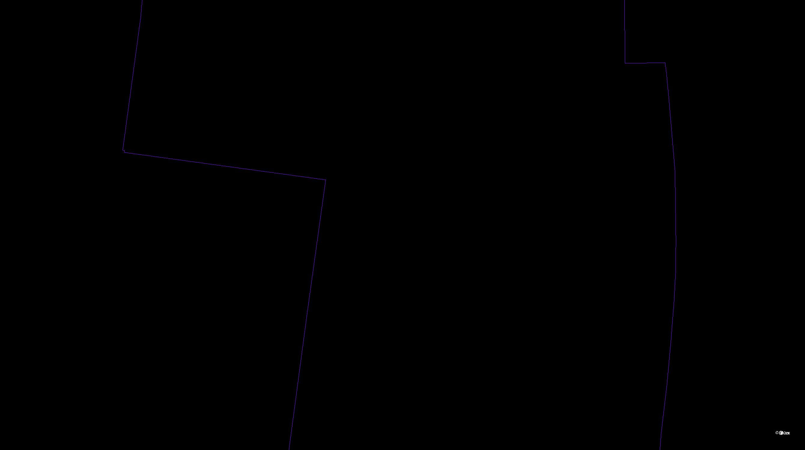 Katastrální mapa pozemků a čísla parcel Krasice
