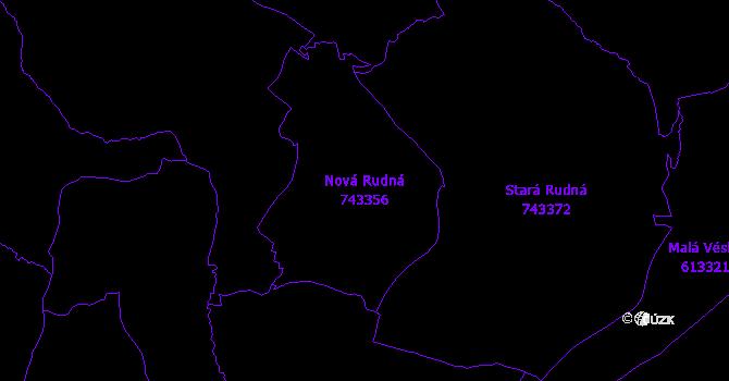 Katastrální mapa Nová Rudná