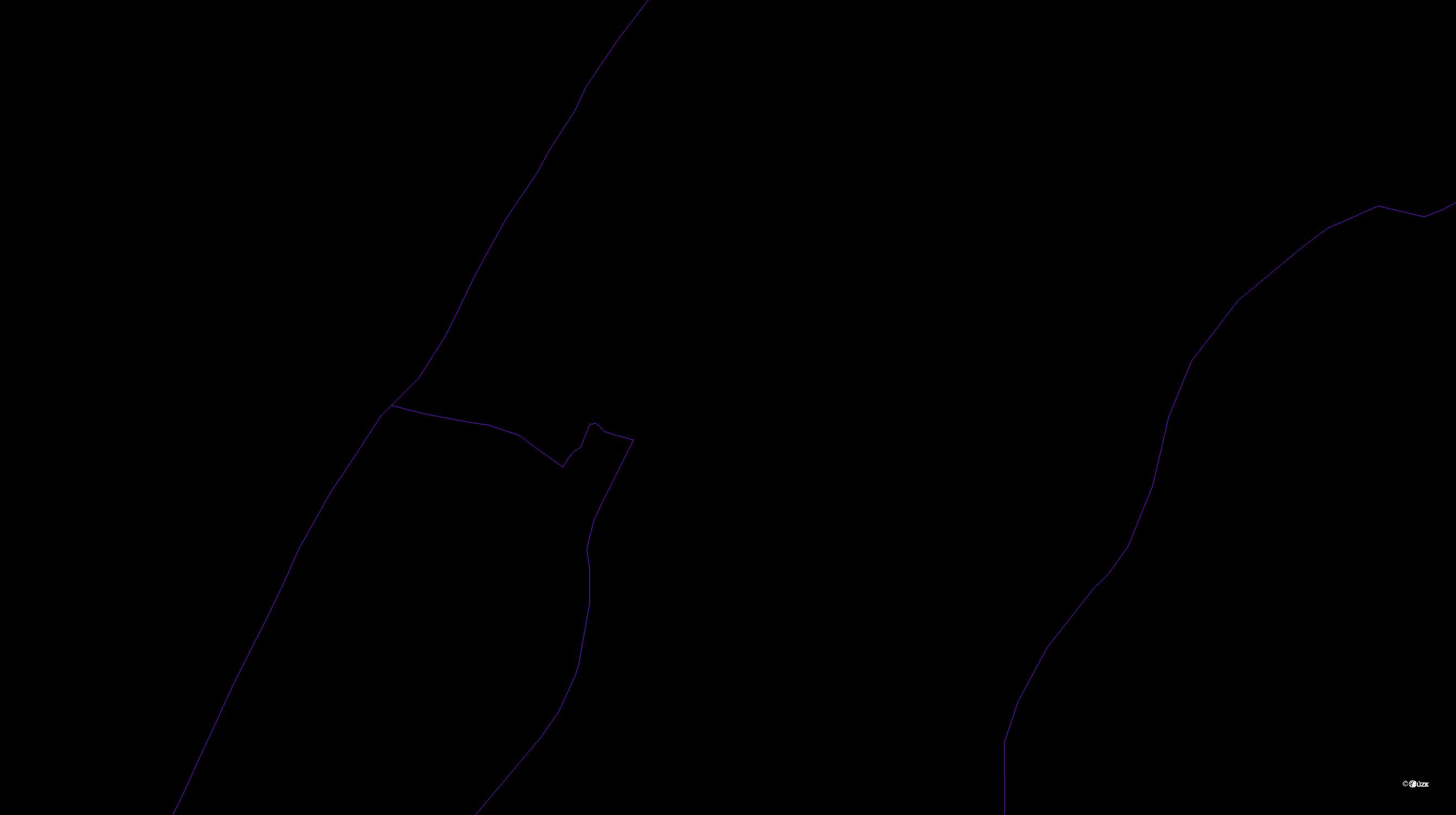 Katastrální mapa pozemků a čísla parcel Nová Chřibská