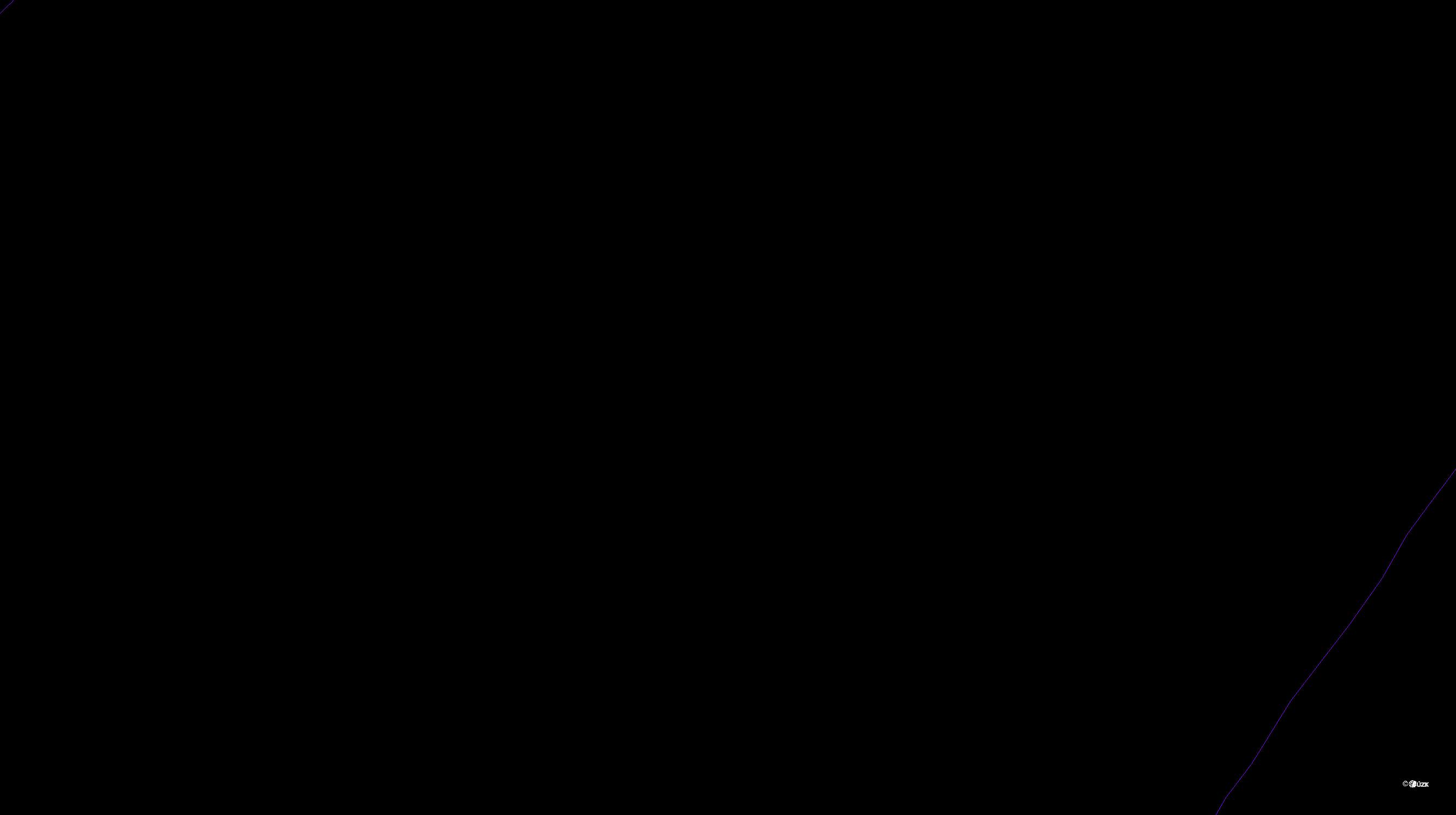 Katastrální mapa pozemků a čísla parcel Edrovice