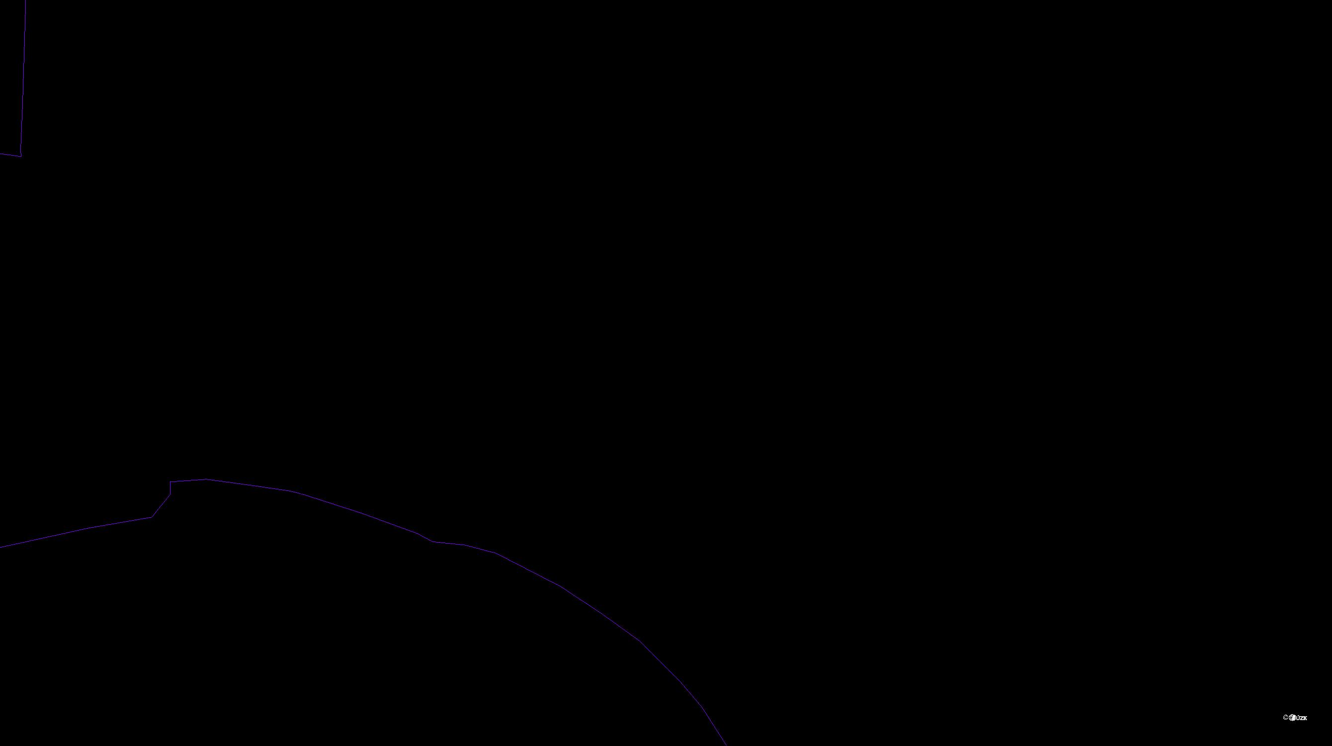 Katastrální mapa pozemků a čísla parcel Sedlec u Karlových Var