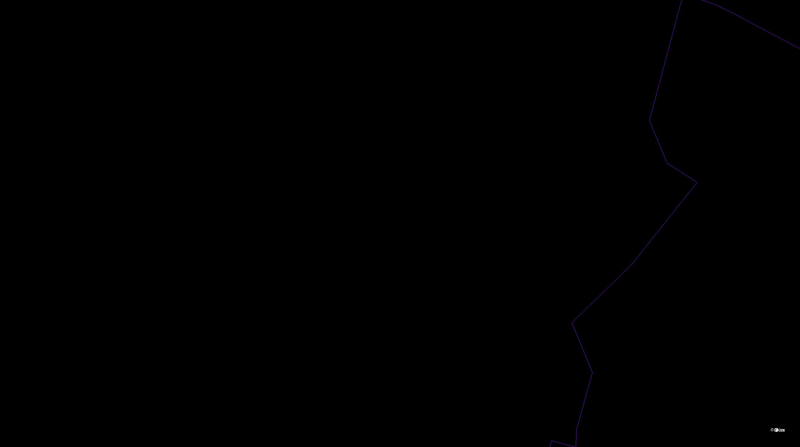 Katastrální mapa pozemků a čísla parcel Dolní Vestec
