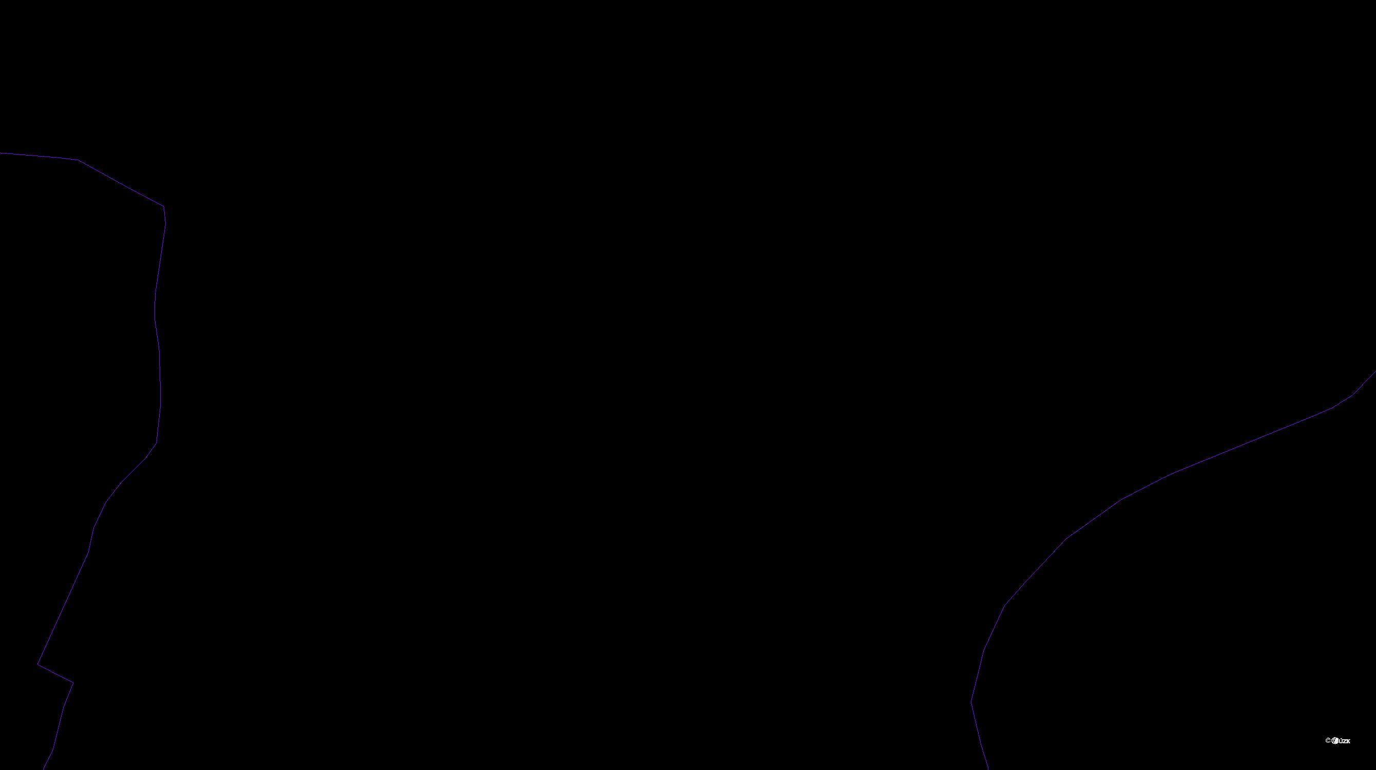 Katastrální mapa pozemků a čísla parcel Stéblovice