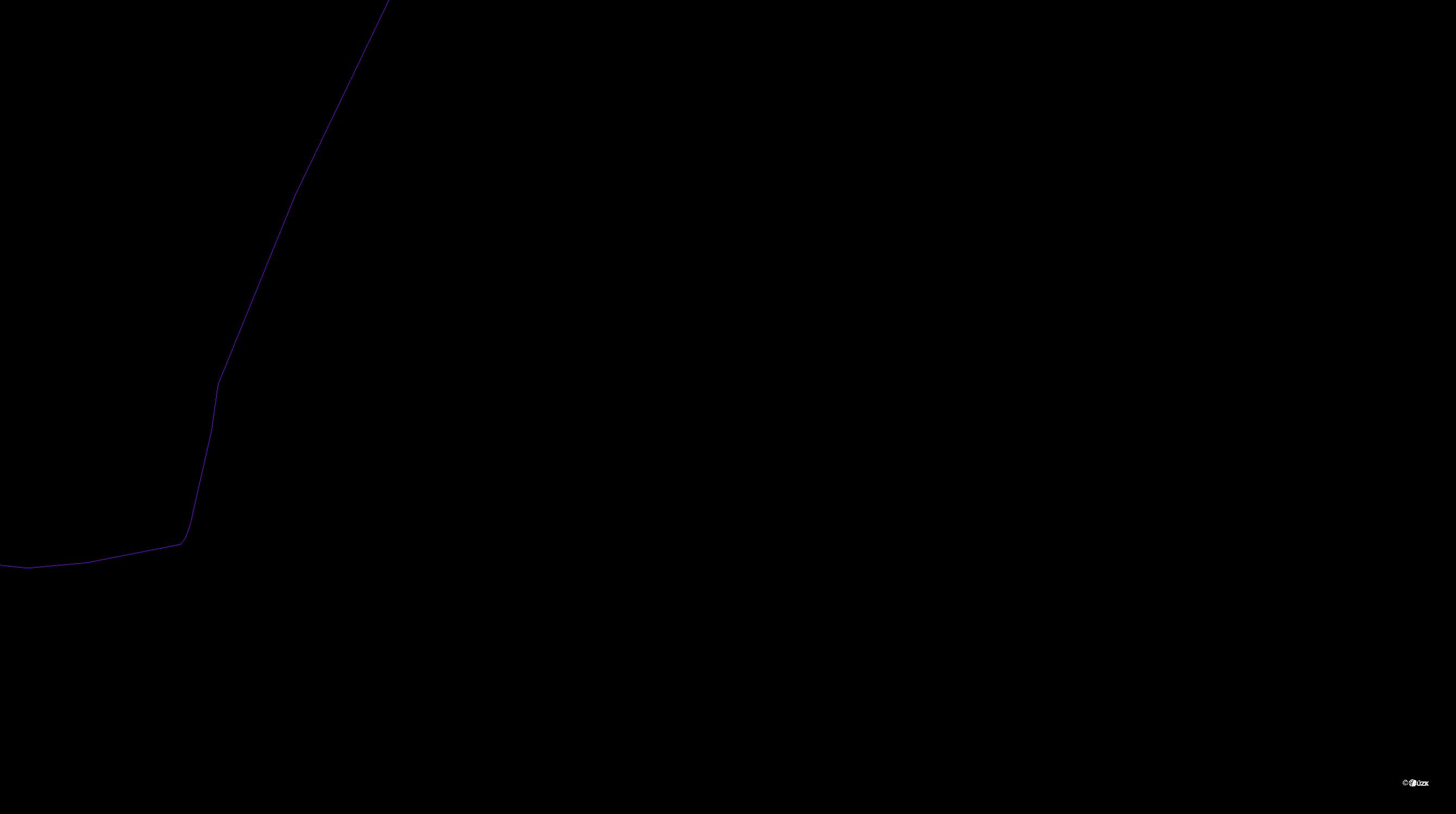Katastrální mapa pozemků a čísla parcel Krchleby u Staňkova