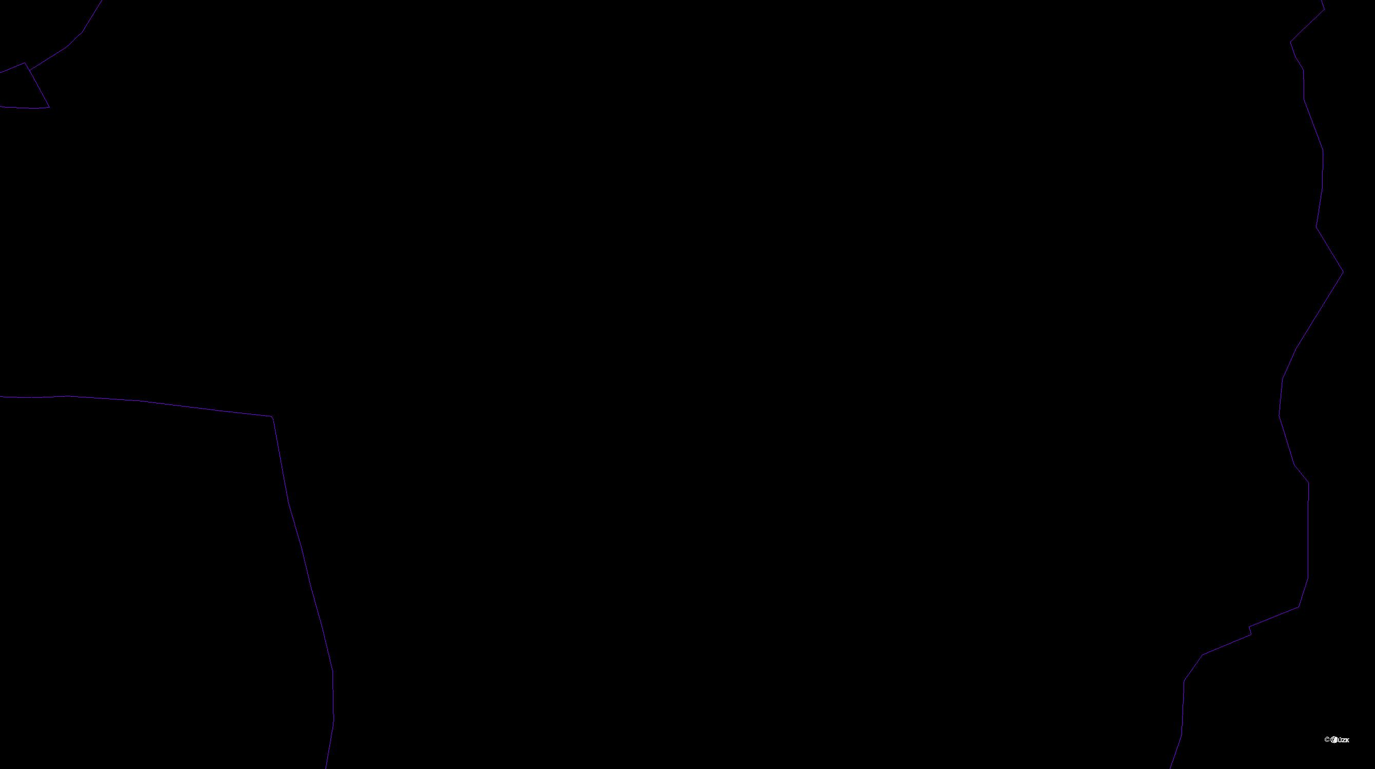 Katastrální mapa pozemků a čísla parcel Malý Šachov