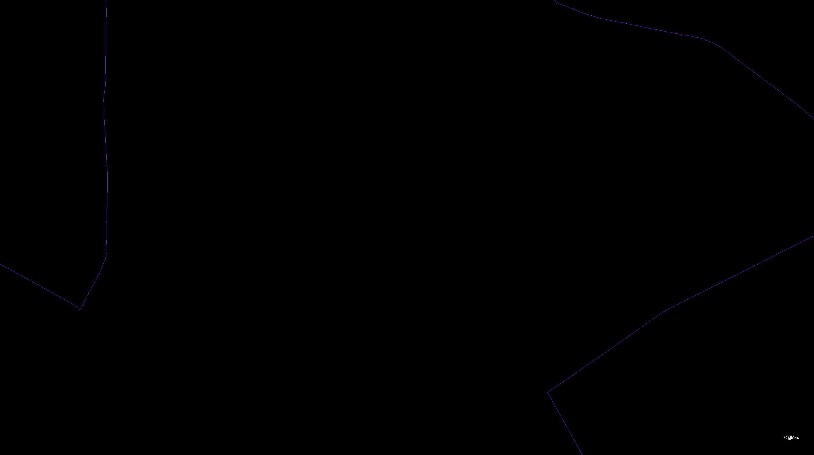Katastrální mapa pozemků a čísla parcel Antonínův Důl