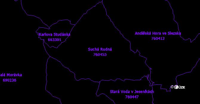 Katastrální mapa Suchá Rudná