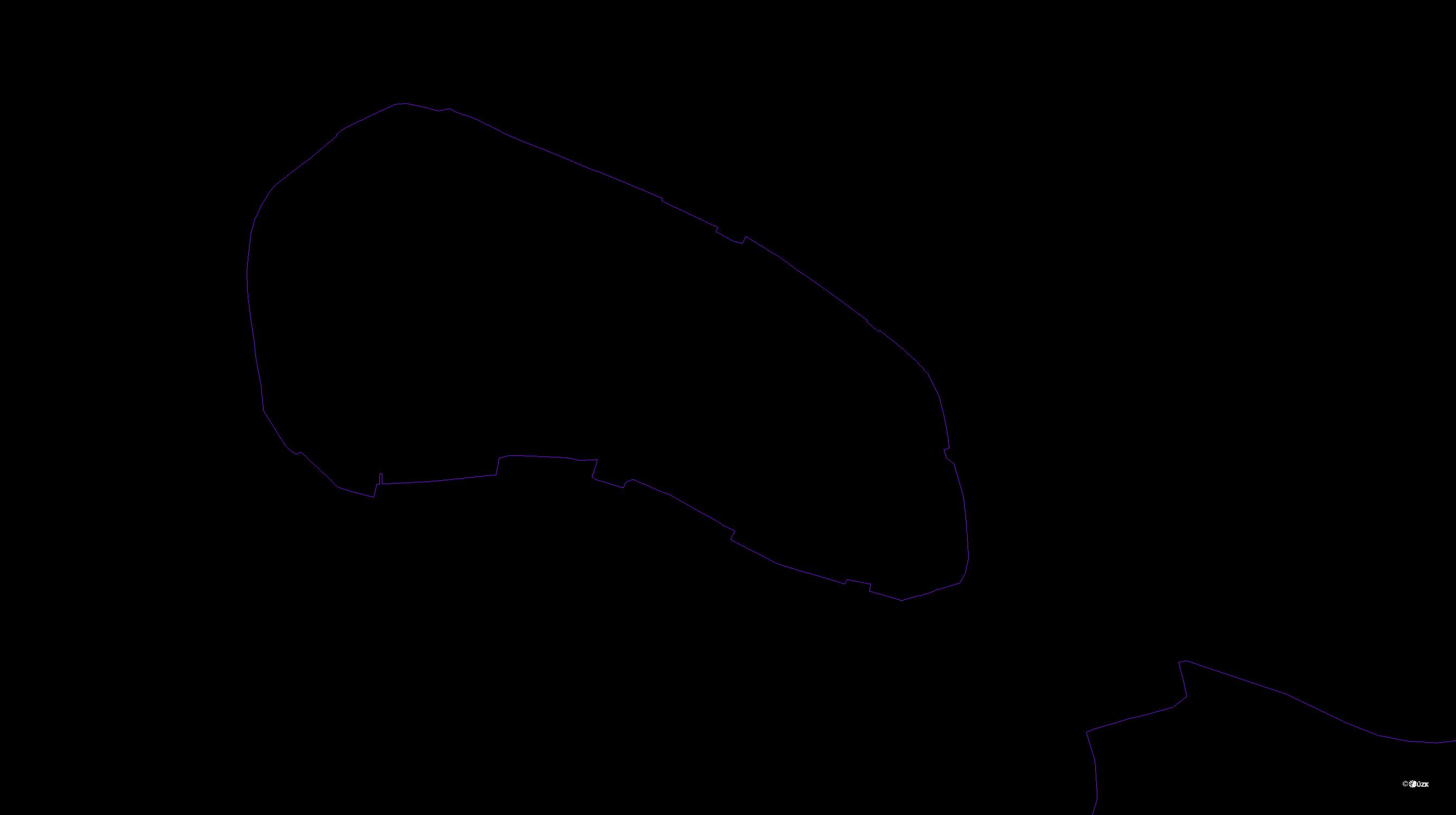 Katastrální mapa pozemků a čísla parcel Svitavy-město