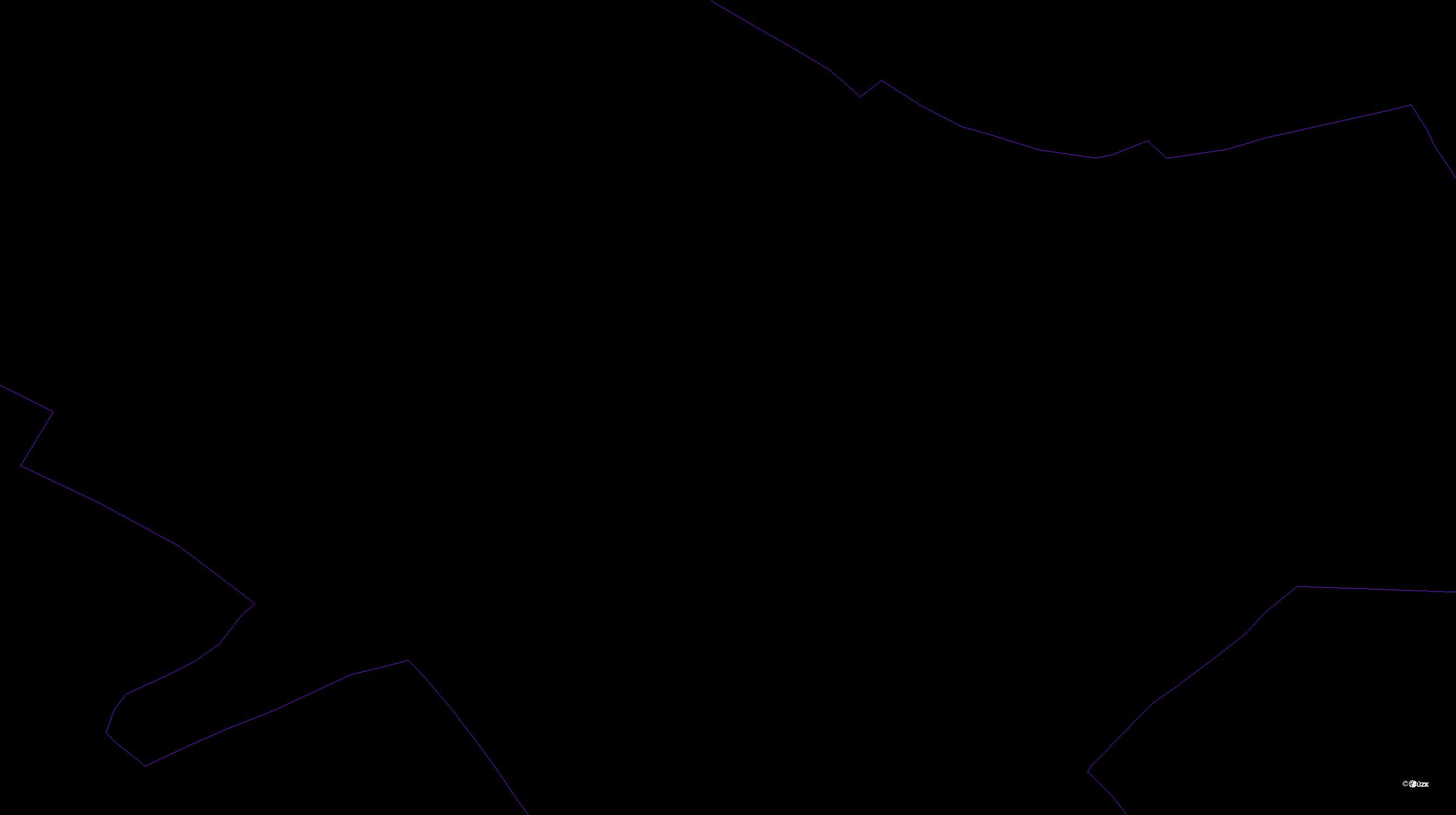 Katastrální mapa pozemků a čísla parcel Nové Hraběcí