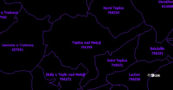 Katastrální mapa Teplice nad Metují - přehledová mapa katastrálního území