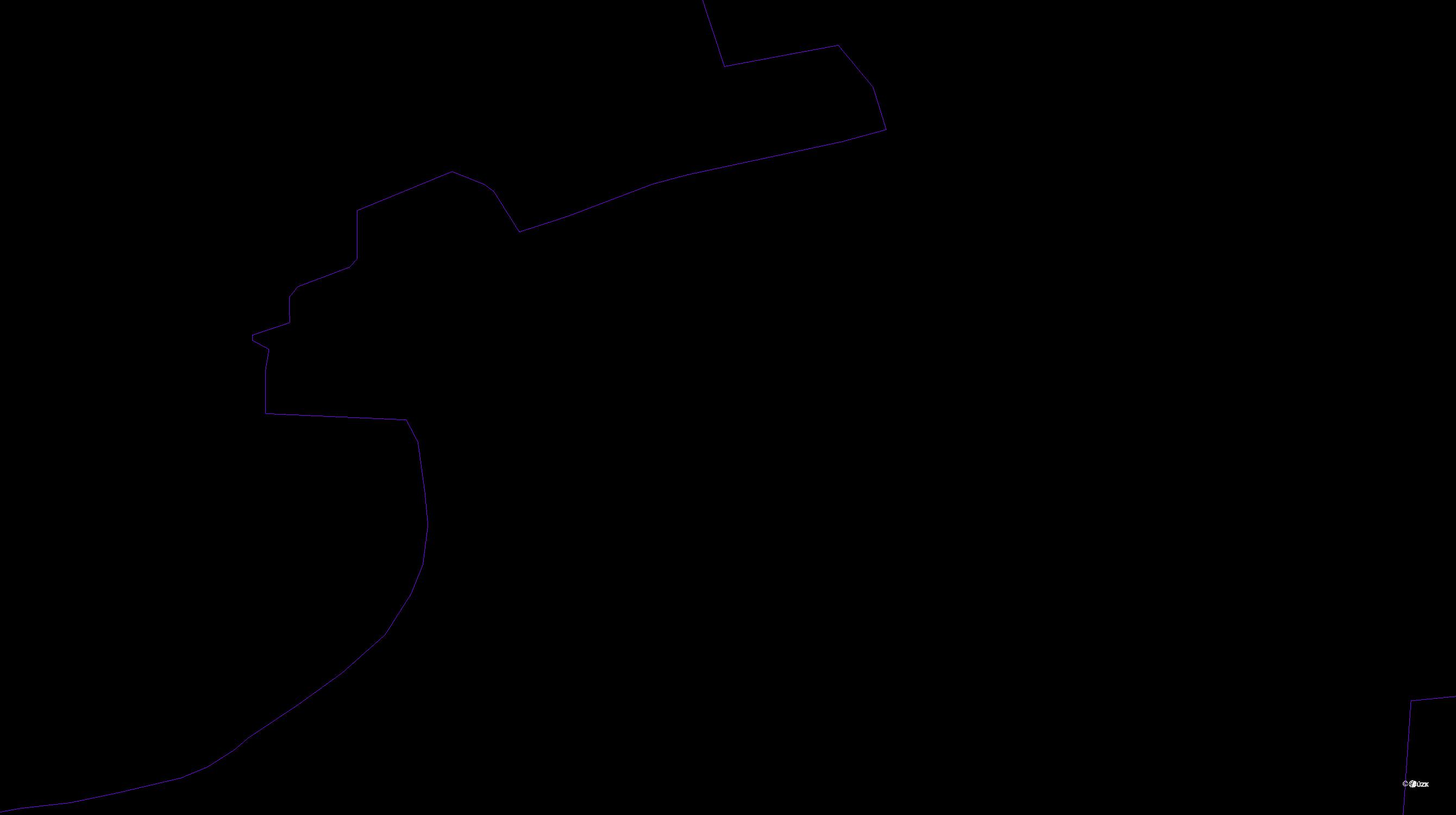 Katastrální mapa pozemků a čísla parcel Mrchojedy