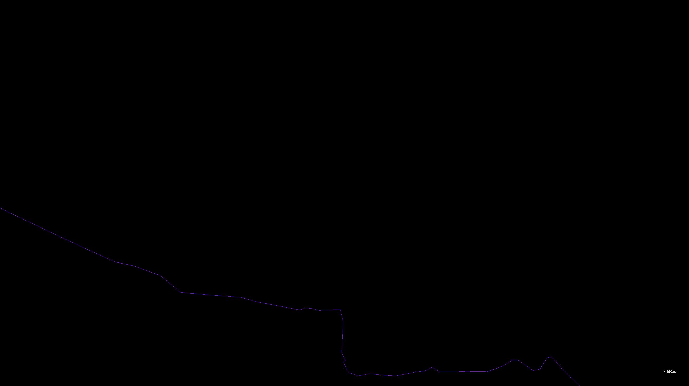 Katastrální mapa pozemků a čísla parcel Kojkovice u Třince